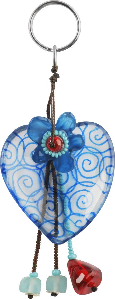 Брелок Lalo Treasures, цвет: синий. 4715Брелок для ключейБрелок Lalo Treasures изготовлен из ювелирной смолы ярких цветов. Он оформлен подвесным сердцем и крепится к кольцу с помощью крепкого шнурка.Оригинальный брелок подчеркнет вашу индивидуальность, а также станет отличным подарком для любительниц модных новинок в мире аксессуаров.