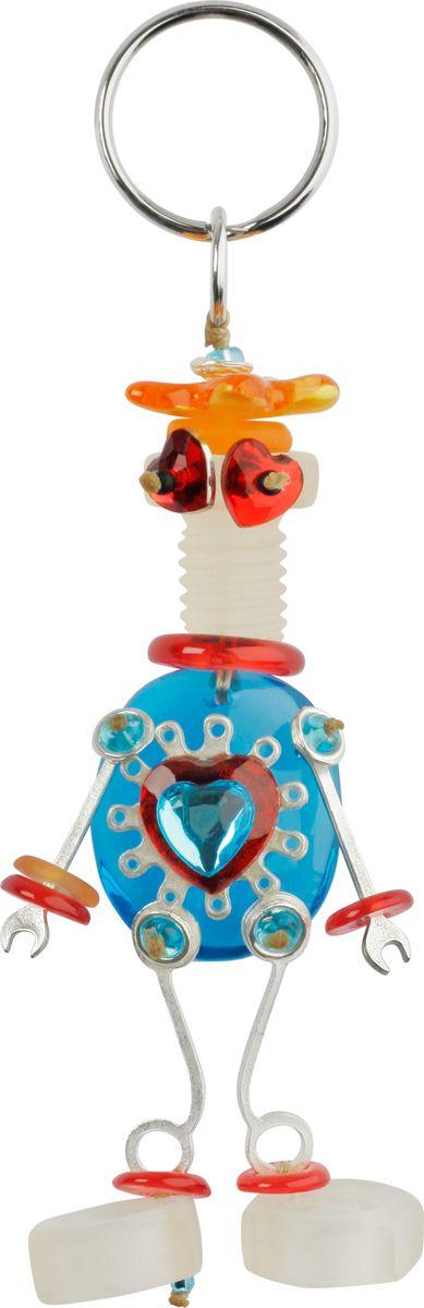 Брелок Lalo Treasures, цвет: голубой, оранжевый. 477293464Брелок Lalo Treasures изготовлен из ювелирной смолы ярких цветов. Он оформлен подвесным роботом и крепится к кольцу с помощью крепкого шнурка.Оригинальный брелок подчеркнет вашу индивидуальность, а также станет отличным подарком для любительниц модных новинок в мире аксессуаров.