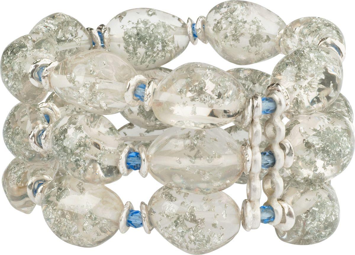Браслет Lalo Treasures, цвет: прозрачный, голубой. B247539864|Серьги с подвескамиОригинальный браслет Lalo Treasures выполнен из ювелирной смолы и металлического сплава. Декоративные элементы собраны на эластичной резинке, с помощью которой браслет растягивается до необходимого размера.Стильное украшение поможет дополнить любой образ и привнести в него завершающий яркий штрих.
