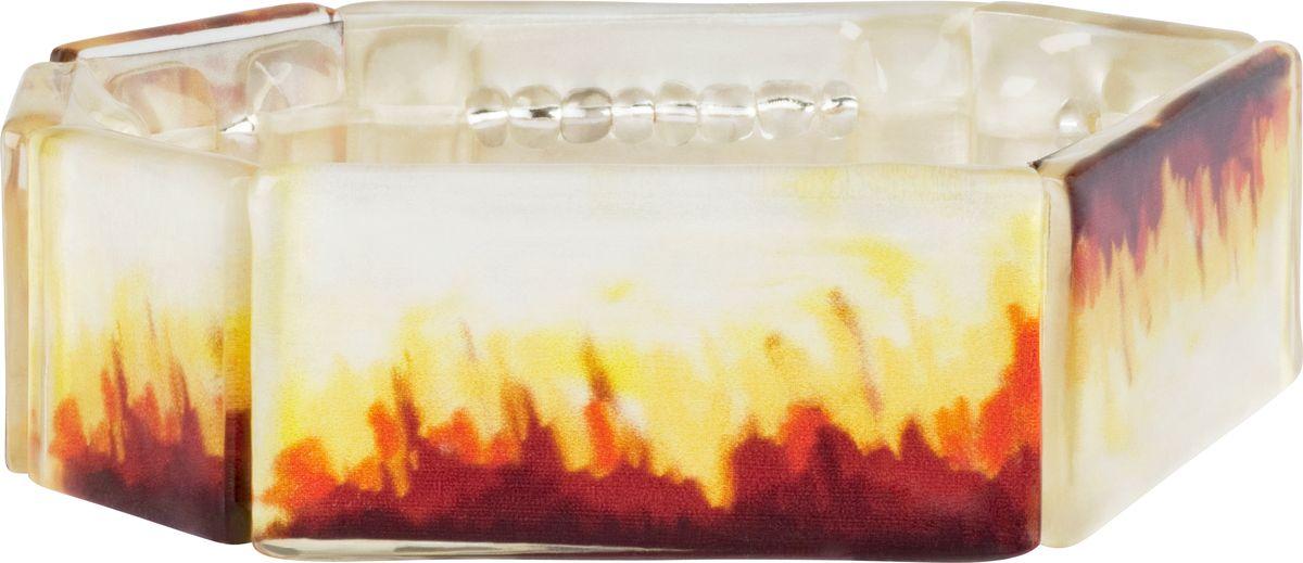 Браслет Lalo Treasures, цвет: коричневый, желтый. B252239864|Серьги с подвескамиОригинальный браслет Lalo Treasures выполнен из ювелирной смолы и металлического сплава. Браслет имеет один декоративный элемент.Стильное украшение поможет дополнить любой образ и привнести в него завершающий яркий штрих.