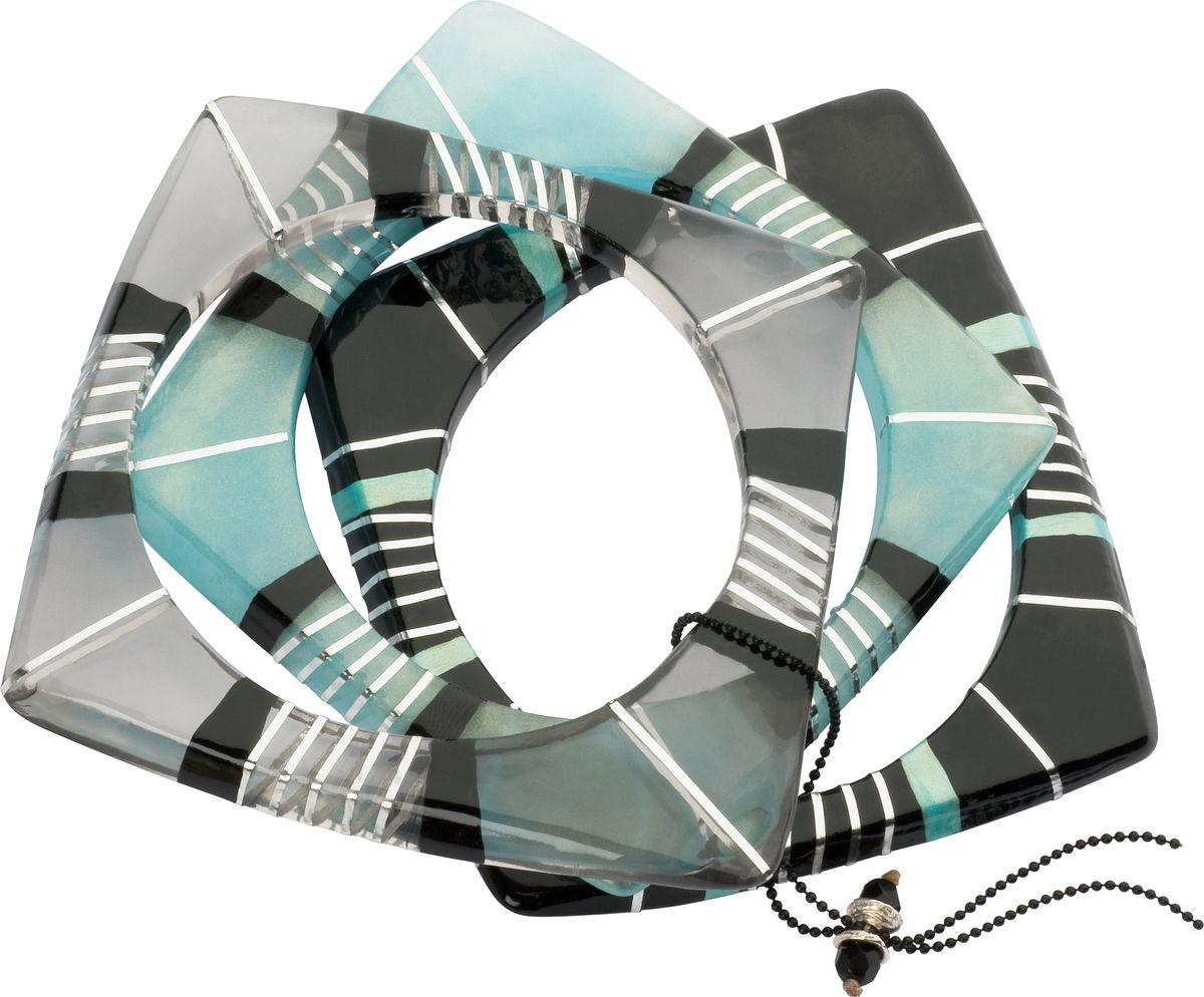 Браслет Lalo Treasures, цвет: серый, голубой. Bn2481Браслет с подвескамиОригинальный браслет Lalo Treasures выполнен из ювелирной смолы и металлического сплава. Декоративные элементы собраны на серебристую цепочку с бусинами.Стильное украшение поможет дополнить любой образ и привнести в него завершающий яркий штрих.