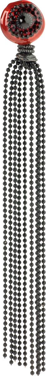 Серьги Lalo Treasures, цвет: черный, красный. E3448/2Серьги с подвескамиОригинальные серьги Lalo Treasures изготовлены из металлического сплава, дополнены декоративными элементами из ювелирной смолы.Изделие застегивается на замок-гвоздик с заглушкой, который надежно зафиксирует серьги.Стильные серьги не оставят равнодушной ни одну любительницу изысканных украшений и помогут создать собственный неповторимый образ.