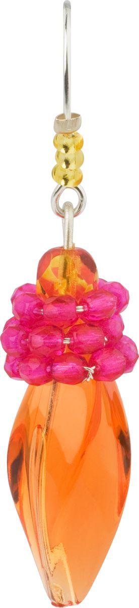 Серьги Lalo Treasures, цвет: оранжевый, розовый. E3507/3Серьги с подвескамиОригинальные серьги Lalo Treasures изготовлены из металлического сплава, дополнены декоративными элементами из ювелирной смолы.Изделие застегивается на замок-пряжка, который надежно зафиксирует серьги.Стильные серьги не оставят равнодушной ни одну любительницу изысканных украшений и помогут создать собственный неповторимый образ.