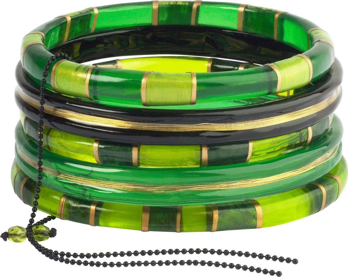 Браслет Lalo Treasures, цвет: зеленый. B2442/2Глидерный браслетОригинальный браслет Lalo Treasures выполнен из ювелирной смолы и металлического сплава. Декоративные элементы собраны на металлическую цепочку с бусинами.Стильное украшение поможет дополнить любой образ и привнести в него завершающий яркий штрих.