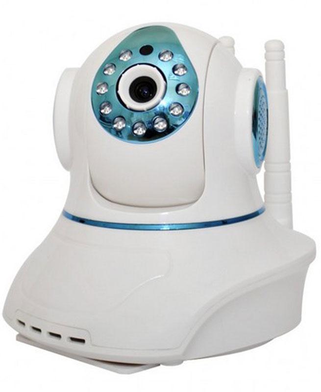 Sapsan Pro 8 Wi-Fi камера9060Wi-Fi камера Sapsan Pro 8 - комнатная сетевая видеокамера с возможностью контроля и записи по срабатыванию подключенных к ней беспроводных датчиков.IP камера может поворачиваться по горизонтали до 355°, а по вертикали на 120°, так что она может видеть все помещение, а управлять ей можно из любой точки мира. Помимо этого, изображение воспроизводимое на устройствах автоматически переворачивается.Wi-Fi камера не требует драйверов и выделенного адреса. А настройка осуществляется по технологии Sonic Transfer Convenient. Встроенный детектор движения помогает заснять нарушение в зоне видимости камеры в первые же секунды.8 беспроводных зон с возможностью подключения до 64 радиодатчиков. При срабатывании датчика включится запись по тревоге (устанавливается в настройках), а также будет поступать тревожный звуковой сигнал на приложение в вашем планшете или смартфоне (если приложение в данный момент работает). Видеокамера имеет встроенную сирену и при срабатывании датчиков начинает работать звуковое оповещение. В настройках камеры можно отключить сирену.В камере есть встроенный микрофон и динамик, позволяющий вести не только запись звука, но и иметь обратную связь с помещением.Запись видео на MicroSD размером до 32 Гб происходит циклично. Архива в качестве HD хватает на 2-3 суток в лучшем качестве, и на неделю в среднем качестве. Архив можно просматривать удаленно с компьютера или ноутбука, планшета или смартфона.Камера может выступать в роли видеоняни, обеспечивая надёжный круглосуточный мониторинг детской комнаты с детальным изображением.Встроенная подсветка до 10 метров дает возможности вести качественную ночную съемку.