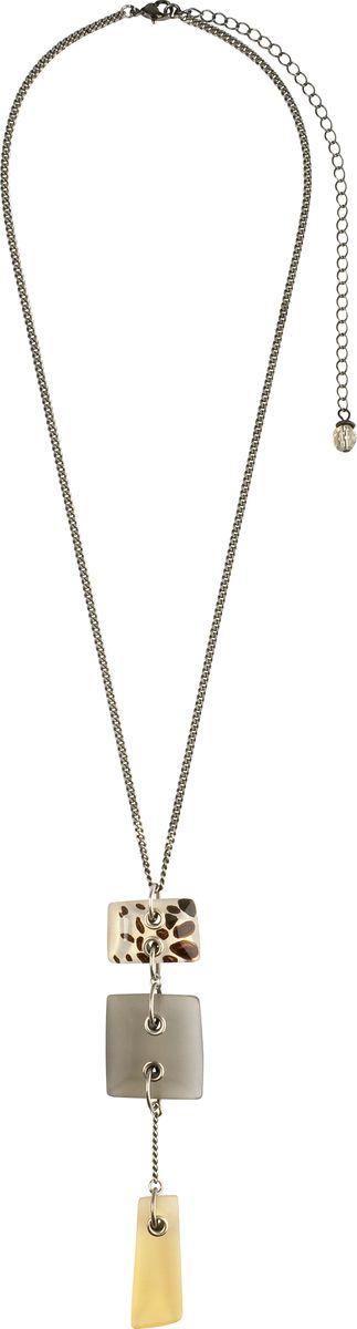 Кулон Lalo Treasures, цвет: серый, светло-коричневый. P4466/2Ожерелье (короткие многоярусные бусы)Кулон Lalo Treasures выполнен из сплава ювелирной смолы в виде небольших подвесных четырехугольников. Кулон дополнен цепочкой, которая застегивается на замок-карабин. Длина изделия регулируется за счет дополнительных звеньев.Кулон Lalo Treasures поможет дополнить любой образ и привнести в него завершающий штрих.