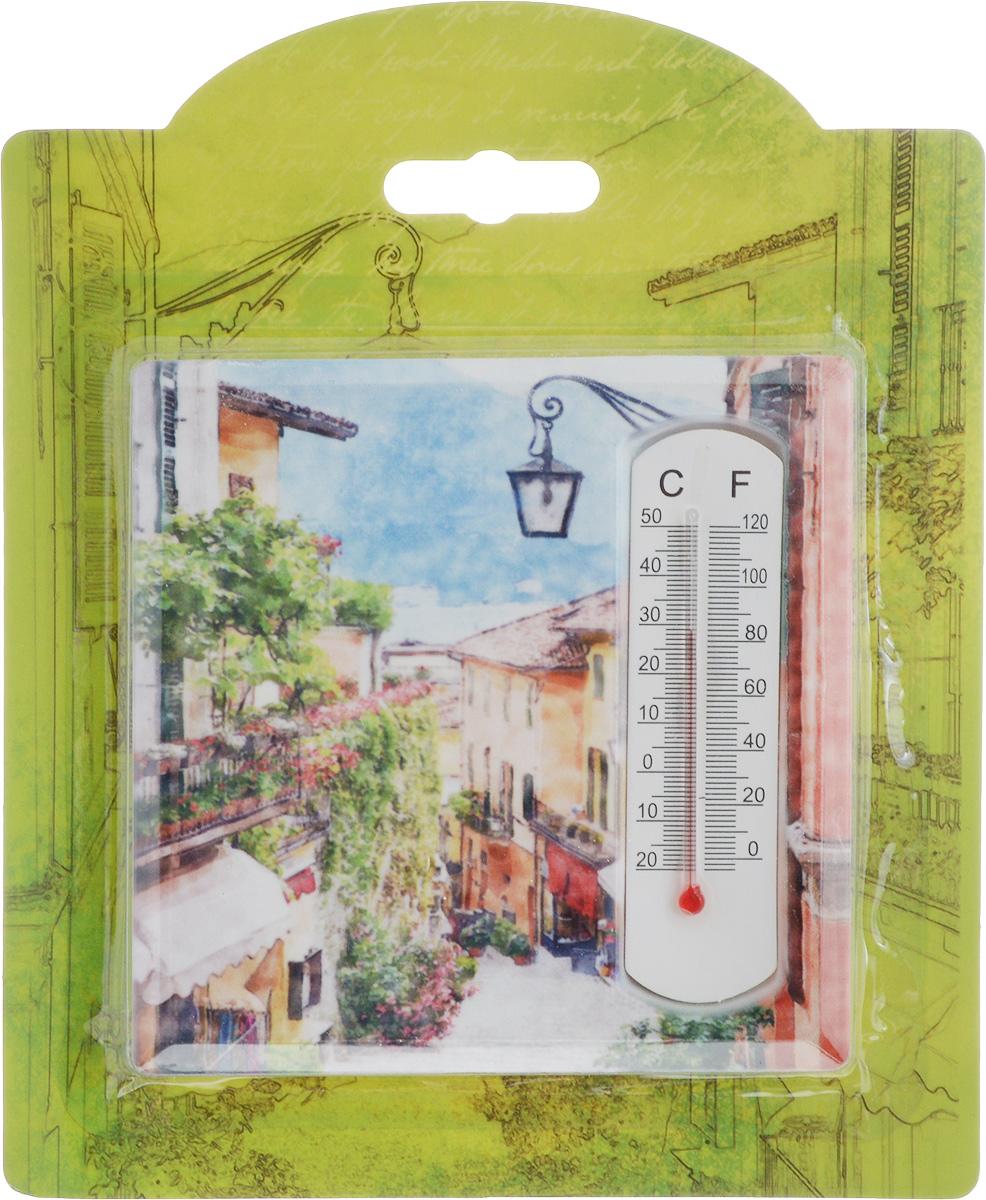 Термометр декоративный Magic Home, 10 х 10 см. 4341043410Комнатный термометр Magic Home, изготовленный из фаянса, декорирован оригинальным изображением. Термометр имеет шкалу измерения температуры по Цельсию (-20°С - +50°С) и по Фаренгейту (-0°F - +120°F).Благодаря такому термометру вы всегда будете точно знать, насколько тепло в помещении. Изделие оснащено специальной петелькой для подвешивания и ножкой для расположения на столе. Оригинальный дизайн не оставит равнодушным никого. Термометр удачно впишется в обстановку жилого помещения.