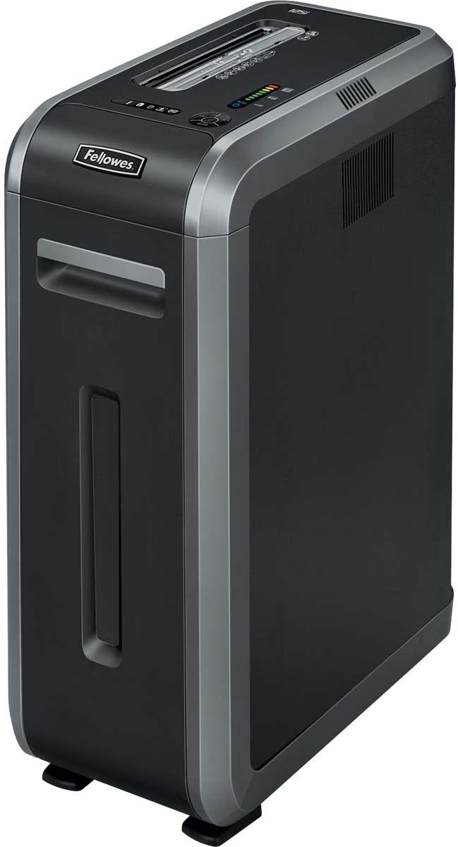 Fellowes Powershred 125I, Black шредерFS-46130Powershred125i – высокотехнологичный шредер для использования в среднем офисе с увеличенным времени рабочего цикла 45 мин. Рекомендуемая нагрузка до 3000 листов в день. Производительность – 18 листов. Продольная резка на полосы шириной 5,8мм соответствуют P-2 уровню секретности по DIN 66399.Высокопроизводительный шредер сосредоточил в себе все самые современные технологии уничтожения документов, повышающие безопасность и облегчающие работу с уничтожителем.