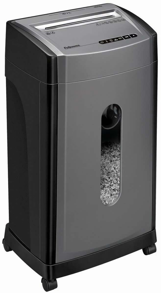 Fellowes MicroShred 46Ms, Grey Black шредерFS-48171MicroShred 46Ms – новый компактный шредер высокого уровня секретности для использования в малом офисе. Рекомендуемая нагрузка до 400 листов в день. Увеличенная производительность – 12 листов. Перекрестная резка на фрагменты размером 2х14 мм соответствуют P-5 уровню секретности по DIN 66399. Лист А4 разрезается на 2220+ фрагментов. После уничтожения документы восстановить практически невозможно. Отдельный слот и корзина для уничтожения CD дисков позволит легко отсортировать бумажные и пластиковые отходы. Прозрачное окно на корпусе шредера позволяет следить за уровнем бумаги в корзине. При имеющимся наборе функций этот шредер прекрасно подходит для уничтожения конфиденциальной информации, а также является образцом оптимального сочетания цена/уровень секретности.