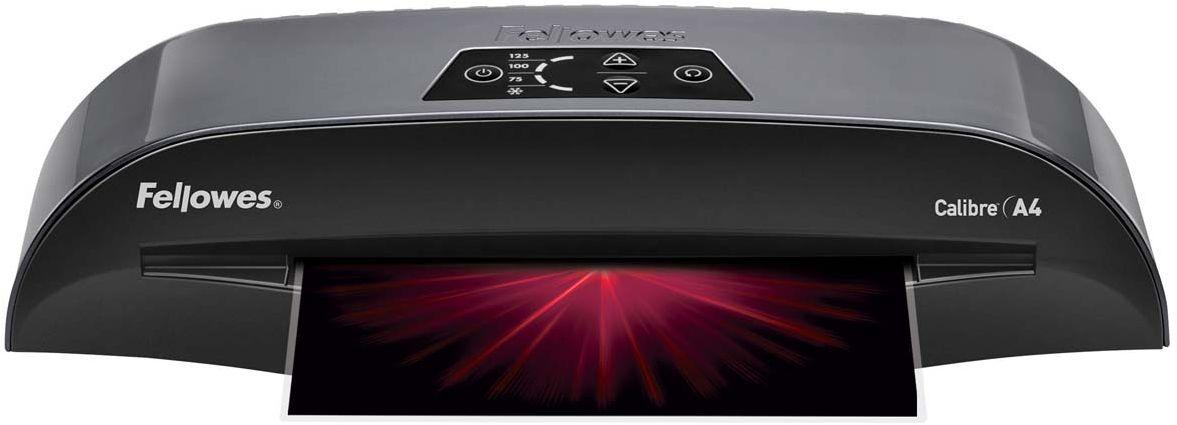 Fellowes Calibre A4 ламинаторFS-57407Fellowes Calibre A4 для использования в малом офисе. Calibre заменяет модель Callisto, которая будет снята с производства. Благодаря технологии InstaHeat ламинатор Calibre нагревается всего за 60 секунд. Новый ламинатор готов к работе в 5 раз быстрее, чем его предшественник. Применение технологии HotSwap позволяет мгновенно переключаться между температурными режимами без ожидания нагрева или охлаждения. Скорость ламинирования выставляется автоматически и составляет до 50 см/мин.Диапазон плёнок 75 – 125 мкмАвтоматическая регулировка скорости ламинирования, до 50 см /минВремя нагрева - 1 минГарантия 2 годаТехнологии: InstaHeat быстрый старт за 60 секунд! Heat Guard запатентованная технология безопасности, уменьшает температуру корпуса на 50% и гарантирует полную безопасность пользователя при прикосновении. Auto Shut OFF Автоматическое отключение ламинатора после простоя.Hot swap Позволяет ламинировать с разной по толщине пленкой без ожидания охлаждения или нагрева аппарата.Jam Free механизм ClearPath обеспечивает 100% работу без заторов и зажевывания документов при использовании расходных материалов Fellowes.