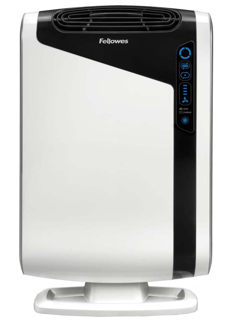 Fellowes Aeramax DX95 воздухоочистительFS-93938Воздухоочиститель Fellowes AeraMax DX95 (fs-93938) предназначен для эффективной очистки воздуха в помещении площадью до 28 м2Воздух проходит 4 степени очистки, что позволяет значительно улучшить качество воздуха внутри помещений, удалив 99.97% загрязняющих частиц.Угольный фильтр удаляет запахи, химические загрязнения и крупные частицы, переносимые по воздуху.True HEPA фильтр задерживает 99.97% частиц размером от 0.3 микрон, включая споры плесени, пыльцу растений, пылевых клещей, большинство бактерий, аллергенов и сигаретный дым.Антибактериальная обработка AeraSafe™– встроенная защита от роста бактерий, вызывающих неприятный запах, плесени и грибков на фильтре True HEPA.Технология PlasmaTRUE™ безопасно удаляет содержащиеся в воздухе загрязняющие вещества, мгновенно нейтрализуя вирусы и микробы.Воздухоочиститель прост в работе и обладает удобным пользовательским интерфейсом. В режиме работы АВТО, датчики оценивают изменения качества воздуха в помещении, на основании чего устанавливается соответствующий режим очистки.
