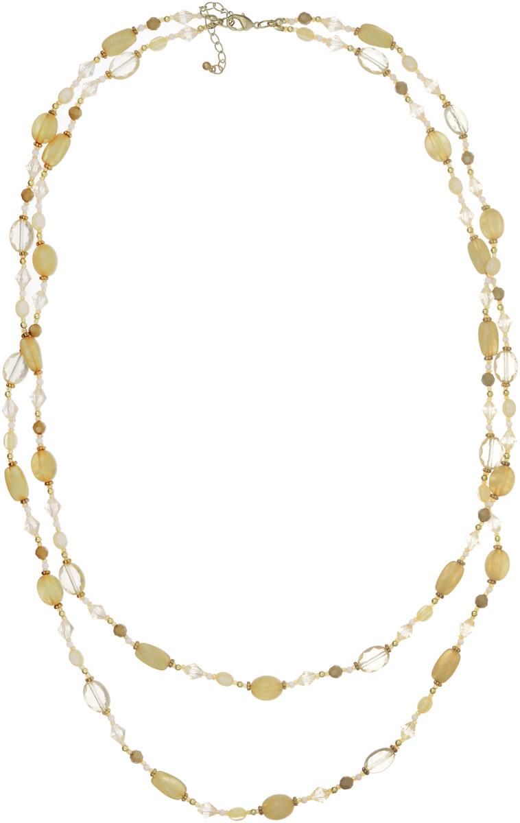 Ожерелье Art-Silver, цвет: бледно-зеленый. АКЦ25887-542Бусы-ошейникОжерелье Art-Silver выполнено из бижутерного сплава, дополнено бисером, бусинами и кристаллами. Модель состоит из двух нитей, застегивается на карабин и регулируется по длине.