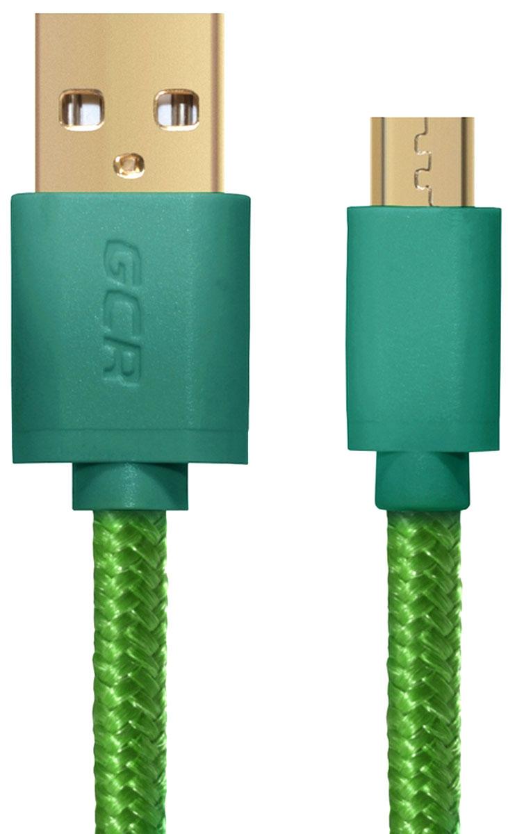 Greenconnect GCR-UA11AMCB5-BB2S-G кабель microUSB-USB (0,15 м)GCR-UA11AMCB5-BB2S-G-0.15Кабель Greenconnect GCR-UA11AMCB5-BB2S-G позволяет подключать мобильные устройства, которые имеют разъем microUSB к USB разъему компьютера. Подходит для повседневных задач, таких как синхронизация данных, зарядка устройства и передача файлов. Экранирование кабеля позволяет защитить сигнал при передаче от влияния внешних полей, способных создать помехи.