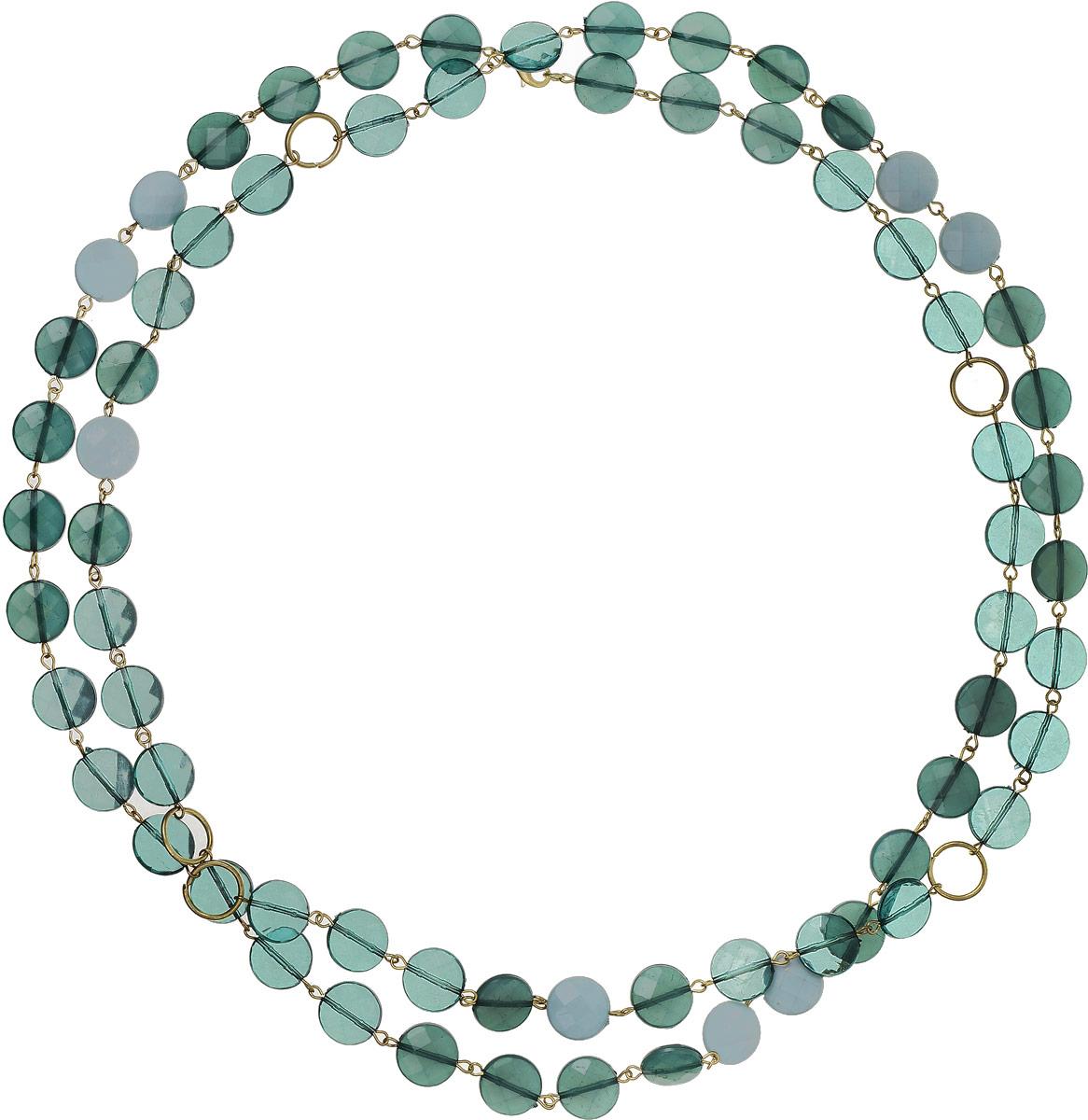 Ожерелье Art-Silver, цвет: зеленый. 25779-382Колье (короткие одноярусные бусы)Ожерелье Art-Silver выполнено из бижутерного сплава и дополнено полимерными бусинами.