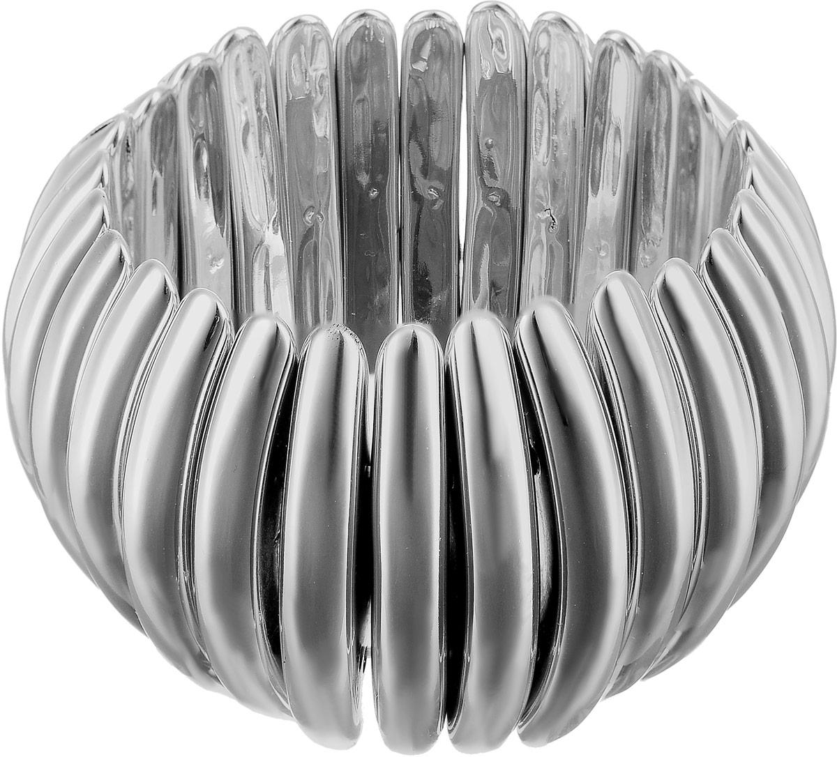 Браслет женский Art-Silver, цвет: серебряный. 14240-568Глидерный браслетБраслет Art-Silver выполнен из бижутерного сплава и полимера. Модель на эластичной резинке.