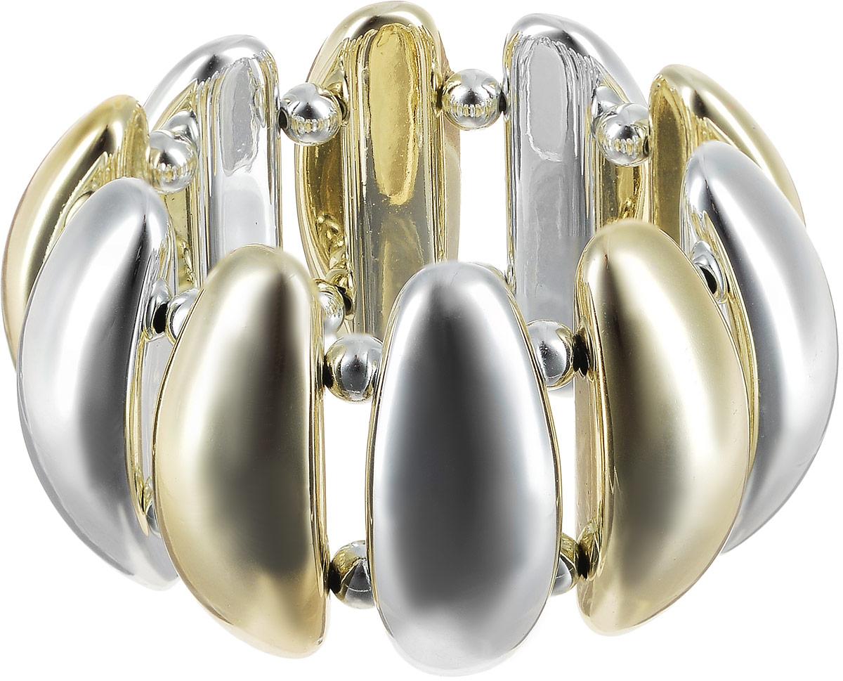 Браслет женский Art-Silver, цвет: золотой. 6697-332Браслет с подвескамиБраслет Art-Silver выполнен из полимера, дополнен позолоченными элементами. Модель на эластичной резинке.