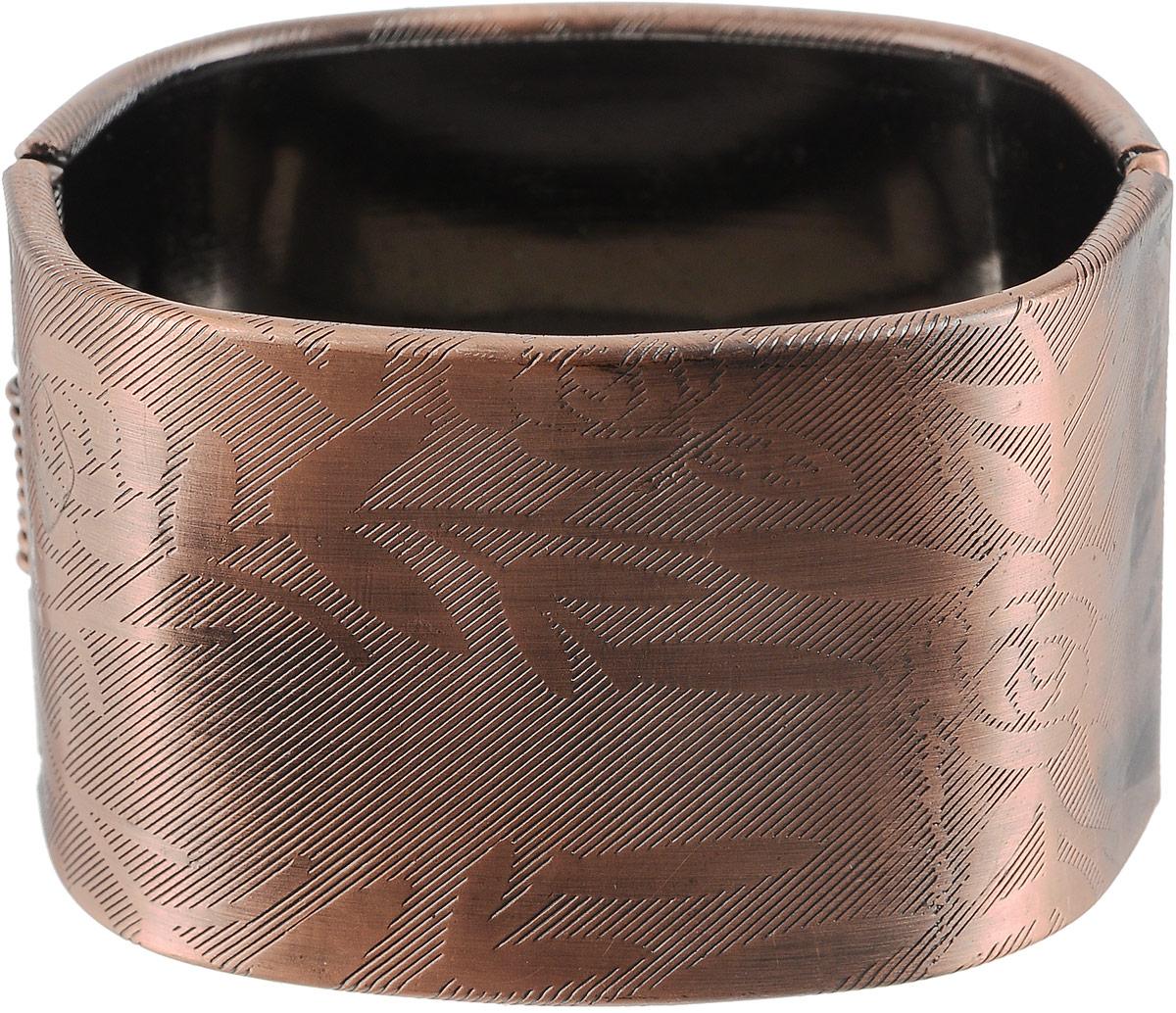 Браслет женский Art-Silver, цвет: медный. 50-03506053-232Браслет для шармовБраслет Art-Silver выполнен из бижутерного сплава и оформлен гравировкой в виде цветов. Модель застегивается на шарнирный замок.