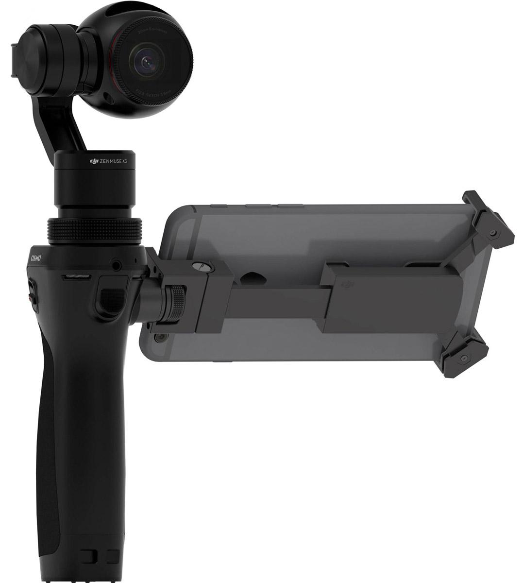 DJI OSMO X3 экшн-камераOSMO X3Представьте: движение без размытия, четкие динамичные кадры, идеальное плавное видео даже на бегу. Все это возможно благодаря новым технологиям, разработанным специально для стабилизации камеры в любых условиях. Открывайте новые возможности съемки вместе с ручным стабилизатором DJI Osmo. Это не просто камера. Это – свобода творчества.Специально разработанный девятикомпонентный объектив подарит вам чистые и четкие изображения. Этот прямолинейный широкоугольный объектив придает драматичности снимку без геометрических искажений, характерных для камер данного размера. Разработчики DJI Osmo вложили много труда в создание этой мощной, но компактной камеры для того, чтобы вы могли снимать видео в 4K с частотой 30 кадров в секунду и четкие качественные 12-мегапиксельные фотографии.Компания DJI всегда специализировалась на создании систем стабилизации для воздушных камер. Труды лучших экспертов по усовершенствованию данной технологии воплотились в камере Х3 и ее стабилизаторе. Теперь все это в ваших руках. 3-х осевая стабилизирующая система знает, как двигается Osmo, и нивелирует случайные движения рук оператора с помощью набора сенсоров и продвинутых алгоритмов. Подобная точность обеспечивается благодаря уникальному сверх-быстрому процессору от DJI. Нивелируя колебания и наклоны в реальном времени, процессор управляет двигателями по всем трем осям: вертикальной, продольной и поперечной.Стабилизатор ZENMUSE X3:Масса: 221 гВыходной ток (с камерой): Статический: 9 Вт; Динамический: 11 ВтДиапазон угловых вибраций: ±0.03°Крепление: СъемноеРабочий диапазон углов вращения:Вертикальная ось: -35°...+135°;Продольная ось: ± 30°Механический диапазон углов вращения:Вертикальная ось: 330°;Продольная ось: -50°...+90°Макс. управляемая угловая скорость: 120°/с