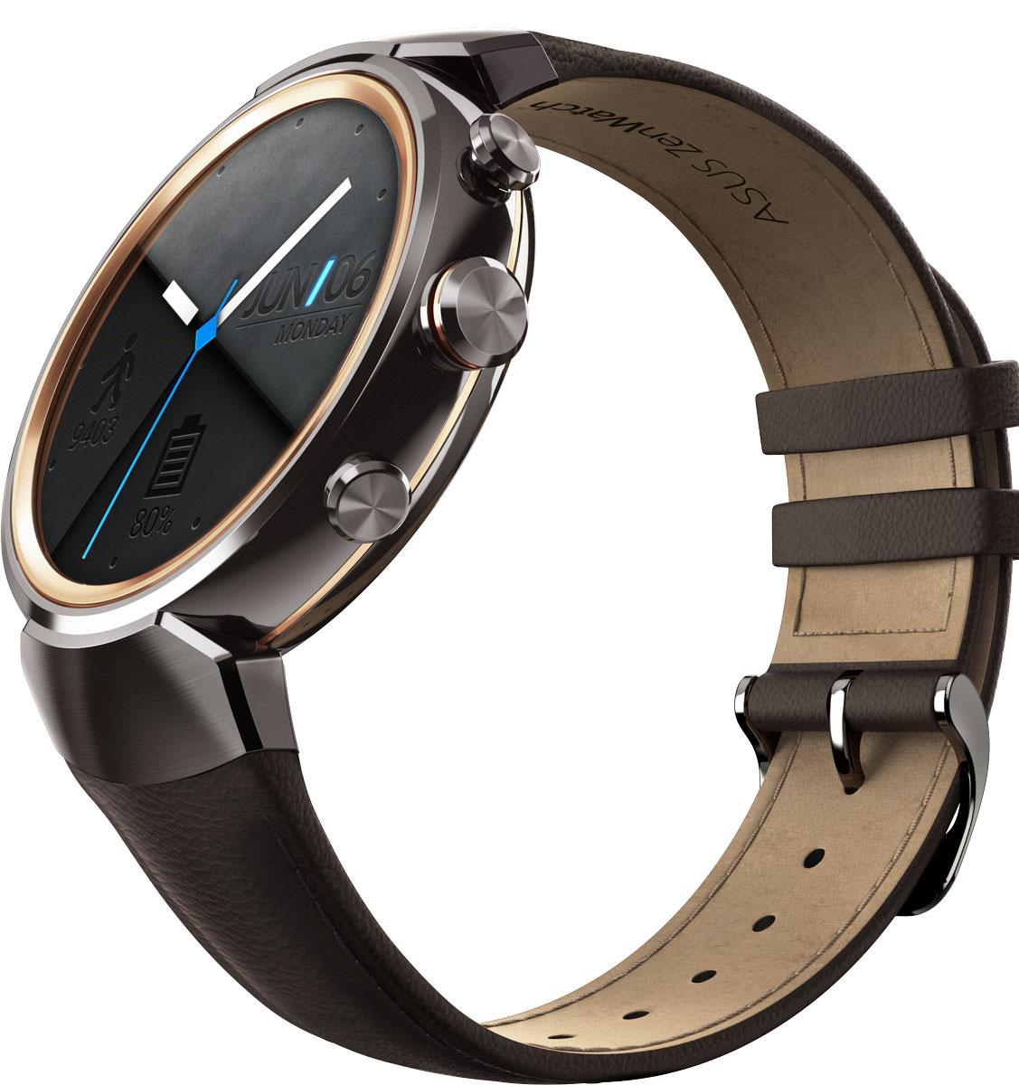 ASUS ZenWatch 3 WI503Q, Brown смарт-часыWI503Q-1LDBR0008ASUS ZenWatch 3 – это современное цифровое устройство, выполненное в соответствии с давними традициями часового искусства из высококачественных материалов и с вниманием к каждой детали. Эти часы умеют делать гораздо больше, чем просто показывать время, а благодаря широким возможностям по персонализации их интерфейса вы легко можете настроить их по своему вкусу. Длительное время автономной работы и технология быстрой подзарядки аккумулятора делают ASUS ZenWatch 3 по-настоящему мобильным устройством, которое всегда будет готово к работе.Своим внешним видом ASUS ZenWatch 3 ближе к традиционным часам, чем к современным цифровым гаджетам. Их стильный дизайн вдохновлен образом солнечного затмения, а широчайшая функциональность реализована с безупречным мастерством.Корпус часов ZenWatch 3 изготовлен из ювелирной нержавеющей стали марки 316L, которая наделяет их не только превосходным внешним видом, но и долговечностью, ведь ее прочность на 82% выше по сравнению с обычной сталью. Высокий статус устройства подчеркивает тонкая отделка оправы.В облике нового устройства ASUS можно отметить необычные для умных часов элементы, а именно три боковых кнопки. Верхняя кнопка является программируемой. Она предоставляет доступ к любимому приложению или функции. Средняя кнопка переключает часы в различные режимы работы, а нижняя моментально активирует специальный энергосберегающий режим.Ремешок часов ZenWatch 3 изготавливается из натуральной кожи, обработанной по традиционной итальянской технологии. Он придает устройству великолепный внешний вид и обеспечивает максимальный комфорт при ношении.Три визуальных темы и более 50 эксклюзивных вариантов циферблата, с которыми поставляются часы ZenWatch 3, позволяют легко настроить их внешний вид по своему вкусу.Часы ZenWatch 3 помогают структурировать различную информацию – сообщения от друзей, напоминания о запланированных встречах, прогноз погоды и многое другое – и выдают ее в нужный мом