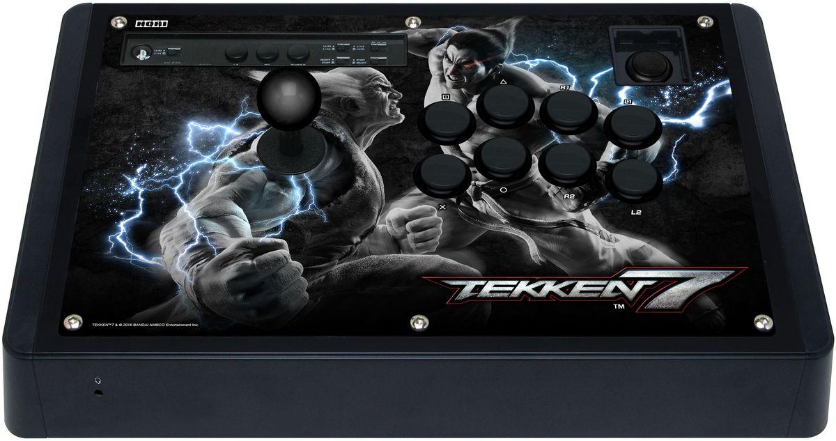 Hori Real Arcade Pro TEKKEN 7 Edition аркадный стик для PlayStation4HR1Hori Real Arcade Pro TEKKEN 7 - это проводной аркадный стик, совместимый как с PlayStation 3, так и с PlayStation 4. Данный продукт официально лицензирован компанией Sony и подойдет для любых файтингов на представленных платформах. Контроллер имеет 14 кнопок (для игры и дополнительных опций) и удобный стик. Hori Real Arcade Pro TEKKEN 7подключается с приставке посредством длинного кабеля 3 м, позволяя сохранять приемлемое и комфортное расстояние до консоли и ТВ.Глубина хода кнопок: 1,4 ммОсновные кнопки: HAYABUSAСтик HAYABUSAКнопка OPTIONS HORIРазъем 3,5 джек для гарнитуры