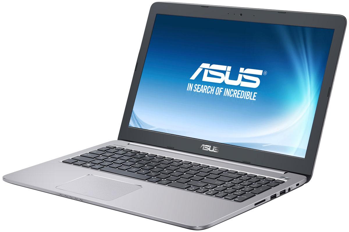 ASUS K501UQ, Grey Metal (K501UQ-DM074T)90NB0BP2-M01210Надежный и комфортный в работе ноутбук ASUS K501UQ выполнен в современном корпусе с красивой отделкой.ASUS K501UQ отлично подходит и для работы с офисными программами, и для запуска мультимедийных приложений. В его аппаратную конфигурацию входят процессор Intel Core, современное графическое ядро и высокоскоростной интерфейс USB 3.0. Ноутбук гарантирует моментальный выход из режима сна и комфортную работу практически в любых приложениях.Интеллектуальная система двойного охлаждения вентилятора- это модернизированная интеллектуальная система охлаждения с двумя независимыми вентиляторами, обеспечивающими охлаждение процессора и GPU. Эта исключительная система система поддерживает необходимую температуру, чтобы предотвратить перегрев и обеспечить стабильность системы, работаете ли вы на ресурсоемких задачах или играете.ASUS IceCool обеспечивает температуру поверхности ноутбука между 28 и 35 градусами, что значительно ниже, чем температура тела, таким образом ваша работа за компьютером будет наиболее комфортной.Высокоскоростной интерфейс USB 3.0 в десять раз быстрее USB 2.0, поэтому он отлично подходит для передачи больших файлов, например, видео высокой четкости, и значительных объемов других данных между устройствами. К примеру, 25-гигабайтный фильм копируется на внешний накопитель всего за 70 секунд!ASUS K501UQ с его простыми линиями и минималистическим дизайном с металлической отделкой в равной степени подходит для использования как дома так и на рабочем месте. Необходимо отметить такие изысканные штрихи, как пескоструйная обработка поверхностей вокруг клавиатуры, выделенная кнопка питания и алмазная огранка вокруг сенсорной панели.Качество звука обычных ноутбуков ограничено размерами встроенной аудиосистемы. Зачастую звук во всем диапазоне частот генерируются в одном источнике, поэтому ему не хватает глубины. Технология SonicMaster, реализованная в ноутбуках ASUS, представляет собой комплекс аппаратных и программн