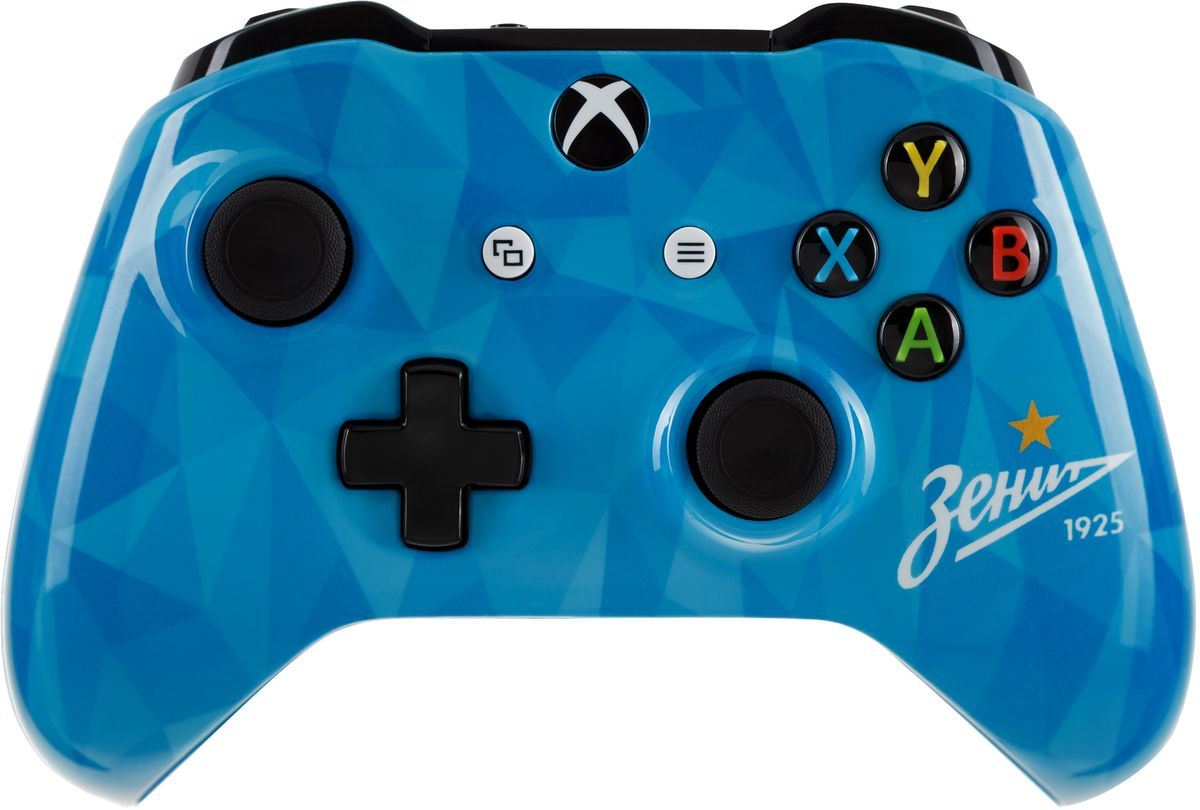 Xbox One Зенит Сине-бело-голубой беспроводной геймпад6CL-00002Ощутите невероятное удобство управления с беспроводным геймпадом Xbox One. Импульсные триггеры обеспечивают вибрационную обратную связь, так что вы почувствуете малейшую тряску и столкновения с высочайшей точностью. Отзывчивые мини-джойстики и усовершенствованная крестовина повышают точность. А к 3,5 - мм стереогнезду можно напрямую подключить любую совместимую гарнитуру.Почувствуйте игру благодаря импульсным триггерам. Вибрационные электродвигатели в триггерах обеспечивают прецизионную обратную связь, передавая отдачу оружия, столкновения и тряску для достижения невиданного реализма в играх!Теперь геймпад оснащен 3,5-мм стереогнездом, к которому можно напрямую подключить любимую игровую гарнитуру.Поддерживается беспроводное обновление прошивки, благодаря чему для обновления не требуется подключать геймпад с помощью кабеля USB.ТочностьКрестовина отлично реагирует как на касания, так и на нажатия навигационных кнопокМини-джойстики удобнее в использовании и точнее работаютТриггеры и бамперы ускоряют доступ к командамКомфортРазмер и контуры геймпада комфортны для рук любого игрокаБатареи скрыты в корпусе, благодаря чему геймпад удобнее лежит в рукеДругие особенностиКомплект поставки: беспроводной геймпад и 2 батареи типоразмера AAРадиус действия до 6 мК консоли можно одновременно подключить до 8 беспроводных геймпадовКнопки Меню и Просмотр облегчают навигациюПростая привязка профилей к геймпадуК новому встроенному стереогнезду для гарнитуры можно подключить дополнительные устройства, например гарнитуру для чатаГеймпад совместим с зарядным устройством для геймпада Xbox One, гарнитурой для чата Xbox One и стереогарнитурой Xbox One.