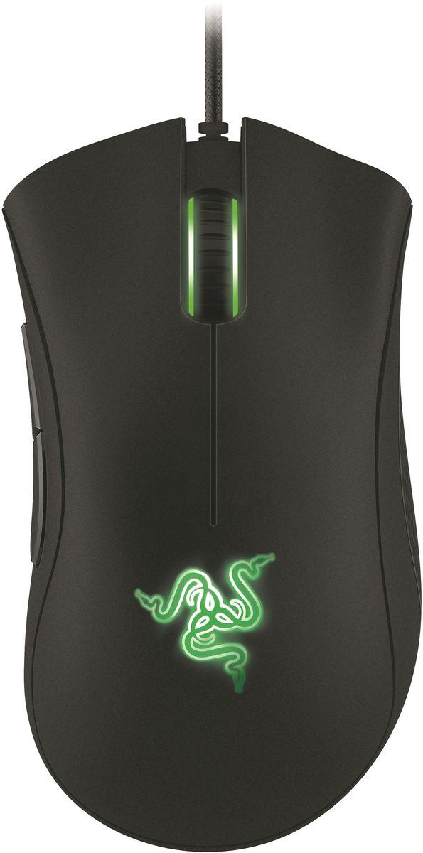 Razer DeathAdder Essential игровая мышьRZ01-00840100-R3G1Razer DeathAdder™ - это настоящее легендарное оружие для геймеров, ищущих комбинацию комфорта и непревзойденной игровой точности. Эргономичная форма мыши для правой руки обеспечивает длительную комфортную игру. Разрешение 6400dpi нового оптического сенсора 4G (четвертое поколение) обеспечит вам попиксельную точность. Это не просто мышь, это пожиратель фрагов!Со времён самой первой модификации мышь Razer DeathAdder обеспечивает геймерам ни с чем не сравнимый комфорт. Её изгибы и контуры доведены до совершенства. Мышь удобно ложится в ладонь — но не менее легко управляется кончиками пальцев. Две большие основные кнопки требуют минимальных усилий.Обновлённая Razer DeathAdder оборудована 4G сенсором с разрешением 6400 dpi — это самый точный оптический датчик из всех, что ставятся на современные игровые мыши без интерполяции. Он способен улавливать движения мыши, выполненные со скоростью до 500 метров в секунду и с ускорением до 50g. То есть, как бы быстро ни перемещалась мышь, курсор на экране будет реагировать на ваши действия с равной точностью и естественной плавностью, которая возможна только при использовании оптических датчиков.Датчик Razer DeathAdder также может отслеживать движения по оси Z на большинстве поверхностей, причём минимальное расстояние срабатывания составляет 1 мм. Это очень удобно для игроков с низкой чувствительностью: можно задать высоту, на которой прекращается отслеживание и тем самым гарантировать стабильность управления в игре.Razer DeathAdder пользуется большой популярностью у профессиональных геймеров, больше всего они ценят удобство конструкции и удачное расположение кнопок. В последней модификации мы добавили текстурные резиновые накладки по бокам — они обеспечат стабильный контроль и надёжный захват при любом стиле игры: и тем, кто постоянно поднимает мышь с поверхности, и тем, кто делает внезапные резкие движения мышью.Кроме того, в зону пристального внимания попал вес мыши. Сдела