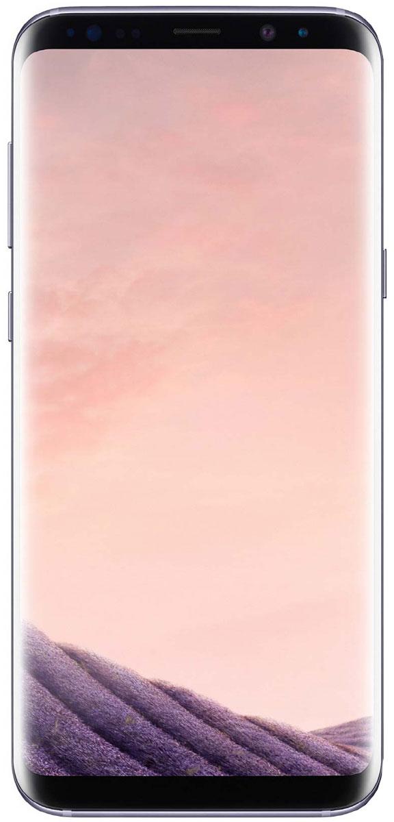 Samsung Galaxy S8 SM-G950, AmethystSM-G950FZVDSERSamsung Galaxy S8 переворачивает представление о классическом дизайне смартфона. Безграничный изогнутый с двух сторон экран подчеркивает гармонию стиля и инноваций.Главная особенность дизайна - это практически полное отсутствие боковых рамок и закругленные края экрана. Какую бы из диагоналей 5,8 или 6,2 вы не выбрали - благодаря симметричному дизайну и эргономике им будет удобно пользоваться даже одной рукой.Увеличенный экран Samsung Galaxy S8 идеально подходит для многозадачности. Переписывайтесь с друзьями, не отрываясь от просмотра любимого фильма. Все что нужно - просто открыть чат в режиме многозадачности.Кнопки Домой, Назад и Недавние приложения теперь виртуальные и перенесены на экран. При нажатии они откликаются аналогично классическим, однако имеют более расширенный функционал.Теперь иконки имеют логическую цветовую окраску, так что вы можете идентифицировать приложение в одно мгновение. Цвета и линии выполнены в одном стиле, что очень удобно с точки зрения восприятия.Теперь вы можете делать фотографии, не задумываясь об условиях съемки. Неважно, будет ли это выполнение трюков на скейтборде или задувание свечей на праздничном торте - фотографии, сделанные с помощью Samsung Galaxy S8 всегда будут четкими, яркими и живыми.Снимайте яркие и четкие селфи, где бы вы ни находились. Фронтальная камера (8 Мпикс) оснащена светосильным объективом для идеальных селфи даже ночью, а также поддерживает интеллектуальный автофокус с функцией распознавания лиц.Технология Dual Pixel обеспечивает настолько быструю и безупречную автофокусировку, что можно запечатлеть даже самые резкие движения в условиях недостаточного освещения.Снять фотографии профессионального качества стало возможным с Samsung Galaxy S8. Все, что нужно - проведите влево, активируйте режим Про и настройте камеру в зависимости от ваших задач.Samsung Galaxy S8 гарантирует бескомпромиссную защиту данных. Сканер радужной оболочки глаза будет надежно защищать всю в