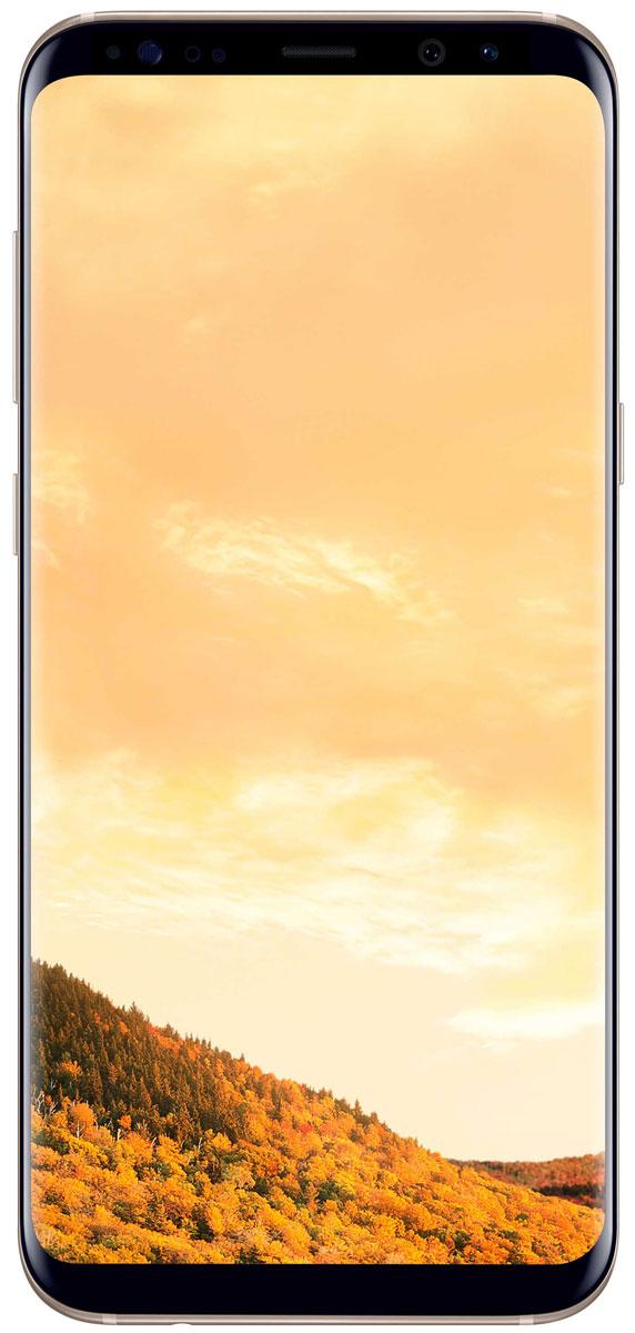 Samsung Galaxy S8+ SM-G955, GoldSM-G955FZDDSERSamsung Galaxy S8+ переворачивает представление о классическом дизайне смартфона. Безграничный изогнутый с двух сторон экран подчеркивает гармонию стиля и инноваций.Главная особенность дизайна - это практически полное отсутствие боковых рамок и закругленные края экрана. Какую бы из диагоналей 5,8 или 6,2 вы не выбрали - благодаря симметричному дизайну и эргономике им будет удобно пользоваться даже одной рукой.Увеличенный экран Samsung Galaxy S8+ идеально подходит для многозадачности. Переписывайтесь с друзьями, не отрываясь от просмотра любимого фильма. Все что нужно - просто открыть чат в режиме многозадачности.Кнопки Домой, Назад и Недавние приложения теперь виртуальные и перенесены на экран. При нажатии они откликаются аналогично классическим, однако имеют более расширенный функционал.Теперь иконки имеют логическую цветовую окраску, так что вы можете идентифицировать приложение в одно мгновение. Цвета и линии выполнены в одном стиле, что очень удобно с точки зрения восприятия.Теперь вы можете делать фотографии, не задумываясь об условиях съемки. Неважно, будет ли это выполнение трюков на скейтборде или задувание свечей на праздничном торте - фотографии, сделанные с помощью Samsung Galaxy S8+ всегда будут четкими, яркими и живыми.Снимайте яркие и четкие селфи, где бы вы ни находились. Фронтальная камера (8 Мпикс) оснащена светосильным объективом для идеальных селфи даже ночью, а также поддерживает интеллектуальный автофокус с функцией распознавания лиц.Технология Dual Pixel обеспечивает настолько быструю и безупречную автофокусировку, что можно запечатлеть даже самые резкие движения в условиях недостаточного освещения.Снять фотографии профессионального качества стало возможным с Samsung Galaxy S8+. Все, что нужно - проведите влево, активируйте режим Про и настройте камеру в зависимости от ваших задач.Samsung Galaxy S8+ гарантирует бескомпромиссную защиту данных. Сканер радужной оболочки глаза будет надежно защищать всю
