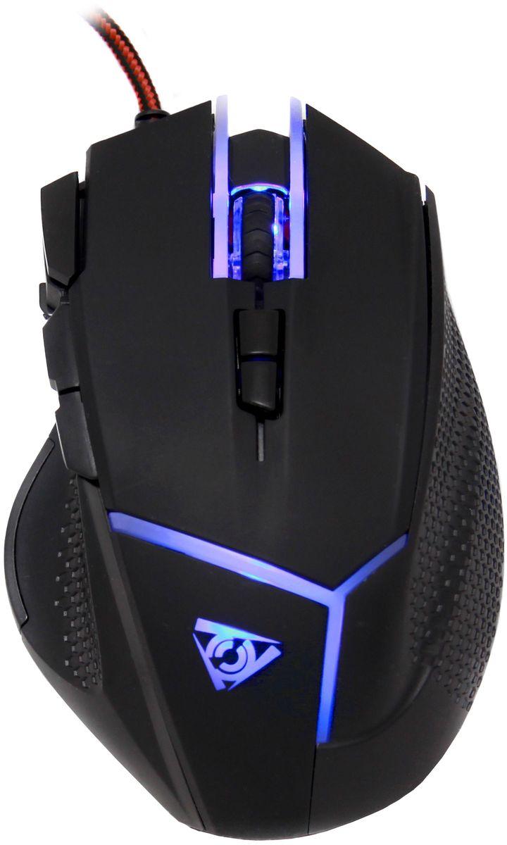Qcyber Alien игровая лазерная мышьQC-02-006DV01Игровая лазерная мышь Qcyber Alien с 9 программируемыми кнопками, регулируемым весом и настраиваемой подсветкой.Смена чувствительности сенсора в диапазоне 500-10000 dpi позволяет настроить мышь под любую игровую ситуацию: сверхточный снайперский режим прицеливания или моментальное перемещение курсора, когда на счету каждая секунда. С частотой сенсора 4000 f/s мышь четко следует заданной траектории, даже когда ускорение достигает экстремальных 10G.Самостоятельно выбирайте баланс между точностью позиционирования и скоростью перемещения в соответствии со своим стилем игры. Система из 5 сменных грузов дает возможность сделать мышь тяжелее - для сверхточного прицеливания, или легче - для молниеносной реакции.Девять программируемых клавиш примут на себя любой функционал. Не оставляйте соперникам ни единого шанса, выполняя игровые действия одним нажатием. Пока ваш противник занят поиском нужных клавиш и пунктов меню, вы уже готовы к следующему шагу. Удобное расположение функциональных кнопок и их разумное количество не оставят возможности для ошибки.Логотип и лаконичные линии с LED-подсветкой на корпусе подчеркивают его выверенную геометрию. Установите для них свой любимый цвет или меняйте подсветку по настроению. Эффектный контраст матовой черной поверхности и светящихся элементов сделает мышь QCyber Alien стильным элементов вашего окружения.Покрытие корпуса Soft Touch обеспечивает максимальный комфорт и уверенный хват в ходе многочасовых баталий. Приятный рельеф в местах соприкосновения пальцев с поверхностью мыши дает уверенное сцепление без лишнего напряжения кисти. Когда противники будет истощены, вы останетесь полны сил и готовы нанести решающий удар!Ресурс переключателей в 5 миллионов нажатий дает уверенность, что в самый ответственный момент любое действие будет выполнено. А сила срабатывания 60 gf исключает случайное нажатие в пылу сражений.