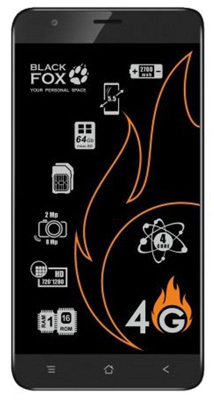 Black Fox BMM 542S, Silver4627102591050Смартфон Black Fox BMM 542S имеет сенсорный IPS-экран с диагональю 5,5 дюймов, что обеспечивает комфорт при серфинге в интернете, просмотре видео и играх. Данная модель оснащена мощным 4-ядерным процессором и оперативной памятью 1 ГБ, что обеспечивает быстродействие устройства даже в режиме многозадачности. Black Fox BMM 542S поддерживает 2 SIM-карты, поэтому смартфон можно использовать в качестве личного и рабочего одновременно.Тыловая камера 8 Мпикс позволяет делать качественные фото и снимать видео, а фронтальная камера 2 Мпикс обеспечивает видеосвязь и яркие селфи.Смартфон поддерживает карты памяти объемом до 64 ГБ, что позволяет хранить всю необходимую информацию, включая фото, видео и музыку. Поддержка интернета 3G/4G позволяет оставаться на связи даже там, где нет Wi-Fi.Телефон сертифицирован EAC и имеет русифицированный интерфейс меню и Руководство пользователя.