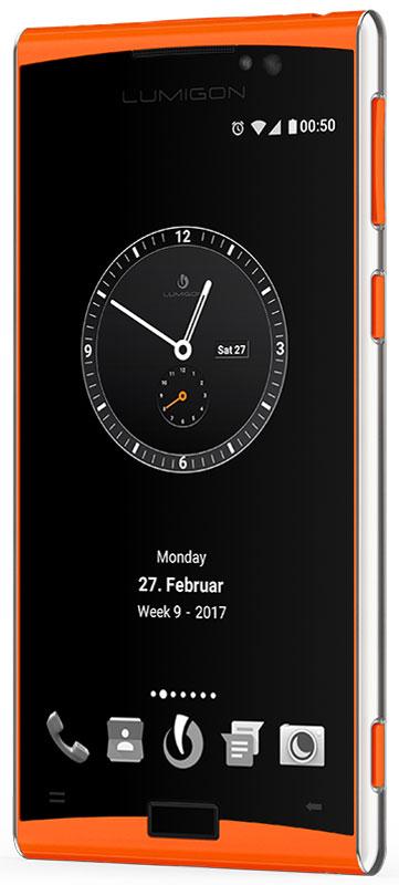 Lumigon T3 Standard, Steel Orange5711860000271Премиальный смартфон Lumigon T3 изготовлен из корабельной нержавеющей стали 316 и ударопрочного стекла Corning Gorilla Glass 4.Каждая уникальная функция была создана для удовлетворения реальных каждодневных потребностей. Каждая черта дизайна и выбор материала тщательно продумывается для того, чтобы служить практическим целям.Замечательная камера 13MP/4K камера с двухтонной вспышкой и очень быстродействующей технологией PDAF (система фазовой автофокусировки / Phase Detection Autofocus). Специальная кнопка для камеры сбоку обеспечивает быстрый доступ к камере, при этом кнопки громкости могут использоваться для уменьшения и увеличения.Контролируемый жестами дисплей BackTouch может использоваться для пролистывания фотографий и прокрутки веб-сайтов. Использование интегрированной камеры с технологией BackTouch является очень удобным для того, чтобы делать селфи.Клавиша действия ActionKey может быть настроена для включения / выключения вспышки, открывания приложений и т.д. Действия могут выполняться путем как короткого, так и длинного нажатия. Клавиша действия ActionKey может использоваться, даже если экран выключен.Хранилище Vault является уникальным приложением Lumigon, благодаря которому изображения, контакты, конфиденциальные уведомления, PIN-коды, приложения и т.д. могут храниться и оставаться защищенными, если вы не хотите, чтобы другие получили доступ к вашим конфиденциальным данным.T3 является первым смартфоном в мире, оснащенным камерой ночного видения. Он позволяет делать все виды ночных записей и запечатлеть предметы, которые невидимы в темноте.В T3 имеется фронтальная камера 5MP/2K, которая оснащена вспышкой, позволяющей делать четкие селфи, совершать видео-звонки или использовать приложение Mirror (Зеркало) даже в условиях темноты.За счет инфракрасного приемника и передатчика телефон может использоваться в качестве пульта дистанционного управления для телевизора, воспроизведения аудио, видео и т.д. Также вы можете 