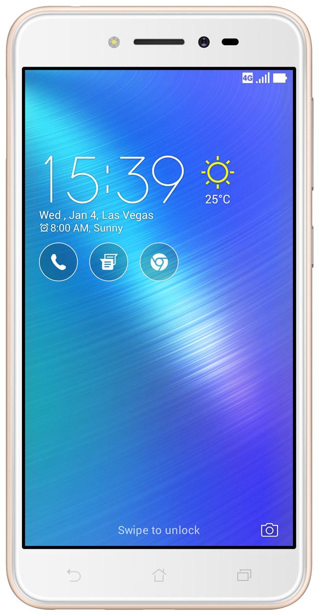 ASUS ZenFone Live ZB501KL, Gold (90AK0072-M00140)90AK0072-M00140ASUS ZenFone Live ZB501KL - поддерживает уникальную технологию BeautyLive, которая позволяет выполнять ретушь портретов в режиме реального времени, автоматически повышая качество фотографий и видео. Кроме того, в нем предусмотрены цифровые микрофоны с системой шумоподавления, способные передавать чистый стереозвук с четким и разборчивым голосом человека.Фронтальная камера может получать качественные фотографии даже при минимальной освещенности – она снабжена светочувствительной матрицей с большими физическими размерами и вспышкой, сохраняющей естественные тона кожи человека. С ее помощью также можно создавать панорамные и групповые снимки – широкоугольная оптика помогает запечатлевать в кадре все важные подробности.Основная 13-мегапиксельная камера не отстает от фронтальной – она снабжена светосильной оптикой, чувствительной матрицей и LED-вспышкой. Для нее предусмотрены такие интересные возможности, как автоматическое повышение качества портретов, функция HDR, а также специальные режимы для съемки детей и для создания панорамных фотографий.Смартфон также отлично подойдет для любителей фильмов, игр и музыки. Его IPS-экран делает изображение по-настоящему живым и насыщенным, а также помогает сохранить четкость картинки при просмотре под любым углом.Мощный динамик воспроизводит все частоты, слышимые ухом человека, и не искажает звук даже при выборе максимальной громкости. Кроме того, устройство поддерживает технологию DTS Headphone X, позволяющую получать объемное аудио при подключении проводных наушников.Фирменная оболочка операционной системы ZenUI 3.0 – это не только яркий интуитивно понятный интерфейс. Она поддерживает управление жестами и позволяет оптимизировать производительность устройства, а также предоставляет доступ ко множеству тем оформления и виджетов.Телефон сертифицирован EAC и имеет русифицированный интерфейс меню, а также Руководство пользователя.