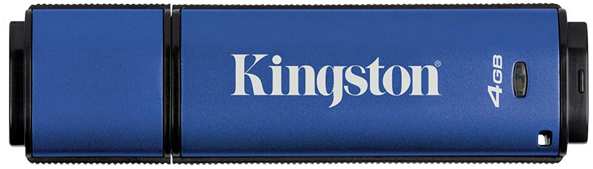 Kingston DataTraveler Vault Privacy 3.0 4GB USB-накопительDTVP30/4GBUSB-накопитель DataTraveler Vault Privacy 3.0 компании Kingston обеспечивает доступную по цене защиту бизнес-класса с 256-битным аппаратным шифрованием AES в режиме XTS. Он защищает 100% хранящихся данных и усиливает комплексную парольную защиту при помощи специальных требований для предотвращения несанкционированного доступа. Кроме того, накопитель блокируется и переформатируется после 10 попыток взлома.Организации могут настраивать накопители, чтобы они соответствовали внутренним корпоративным требованиям. С помощью настройки можно нанести логотип (Co-logo), указать серийные номера, количество попыток ввода пароля, минимальную длину пароля и собственные идентификаторы продукции для интеграции в стандартное конечное ПО управления (создание белых списков).Технология SuperSpeed USB 3.0 позволяет не идти на компромиссы между скоростью передачи и безопасностью. DTVP 3.0 сертифицирован по FIPS 197 и соответствует стандарту TAA, поэтому удовлетворяет самым распространенным корпоративным и нормативным требованиям.