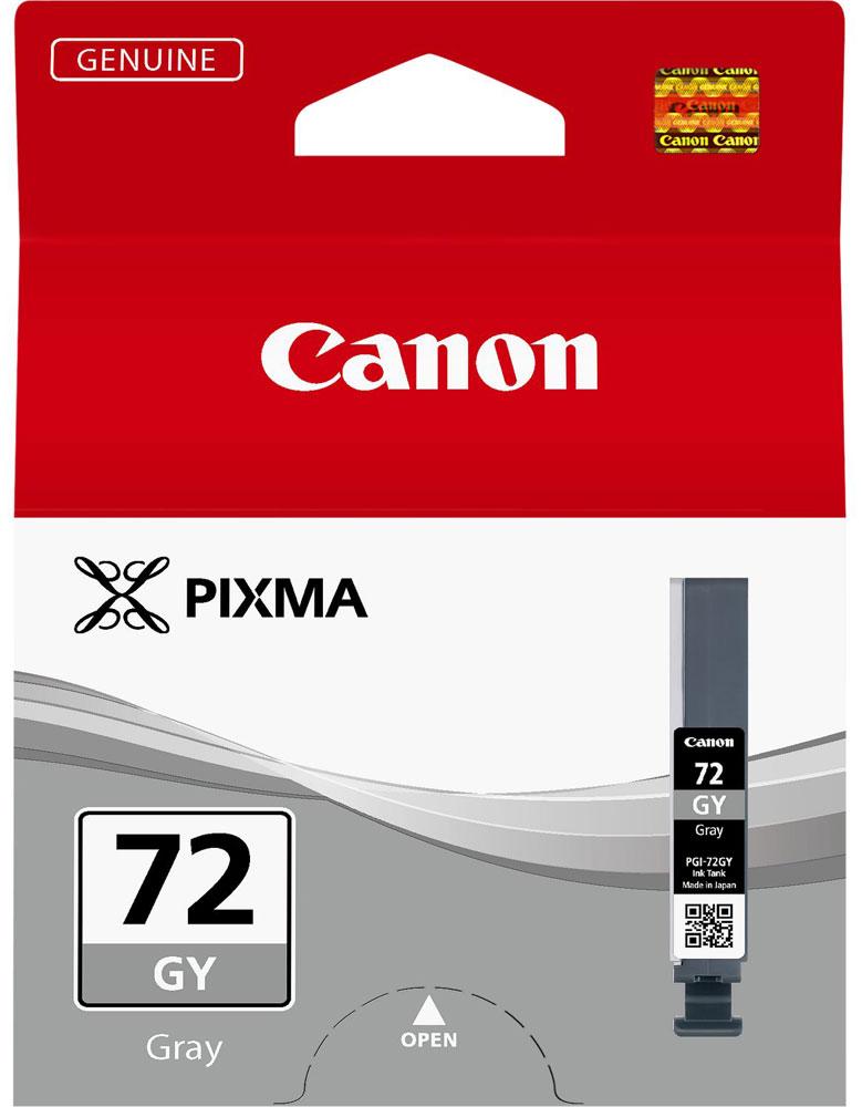 Canon PGI-72GY, Grey картридж для Pro-106409B001Canon PGI-72GY - картридж для Pro-10. Оригинальные чернила Canon гарантируют максимальное качество, долговечность отпечатков и надежность работы принтера. Благодаря уникальной технологии FINE печатающей головки Canon любой принтер PIXMA способен обеспечить невероятное качество и скорость печати документов и изображений.