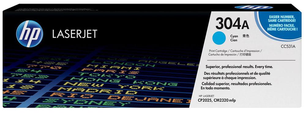 HP CC531A, Cyan тонер-картридж для Color LaserJet CP2025/CM2320CC531AИспользование расходных материалов HP 304 LaserJet повысит привлекательность вашего бизнеса. Тонер HP ColorSphere обеспечивает профессиональное качество печати - насыщенные цвета, четкость текста и реалистичность фотографий. Поддерживайте высокую производительность с неизменно качественными, надежными оригинальными расходными материалами HP.Оцените насыщенные цвета и четкость графических изображений. Не ограничивайтесь текстом - создавайте фотореалистичные изображения. Разборчивый текст и четкость деталей станут лучшей рекламой. Тонер нового поколения HP ColorSphere позволяет печатать рекламные материалы высокого разрешения для вашей компании.Интеллектуальные технологии в оригинальных лазерных картриджах HP позволяют оптимизировать качество печати и надежность. Равномерная цветопередача обеспечивается настройкой системы в соответствии с уникальными характеристиками тонера HP ColorSphere.