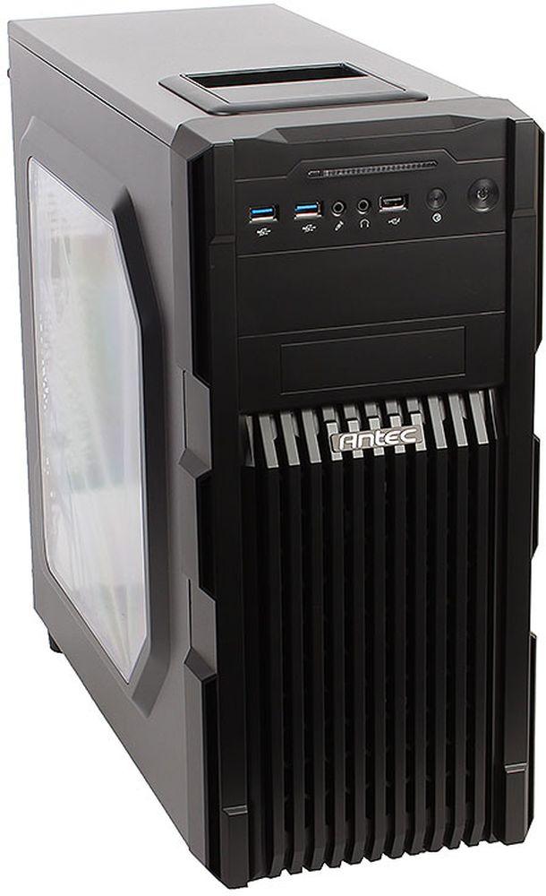Antec GX200 Blue компьютерный корпус0-761345-15202-0Antec GX200 Blue - практичный стальной черный корпус формата Midi-Tower для ПК, с синей LED подсветкой, который имеет передний вентиляционный гриль со сменным фильтром.Корпус способен вместить материнские платы до типоразмера ATX, производительные видеокарты длиной до 380 мм, и процессорные системы охлаждения высотой до 158 мм. В данной модели имеются крепления для одного 2.5-дюймового и четырех 3.5-дюймовых накопителей. Число слотов расширения равно семи.На верхней части корпуса есть удобный отсек для хранения аксессуаров и мобильных устройств. Спереди можно подключить внешние устройства к двум портам USB 3.0.