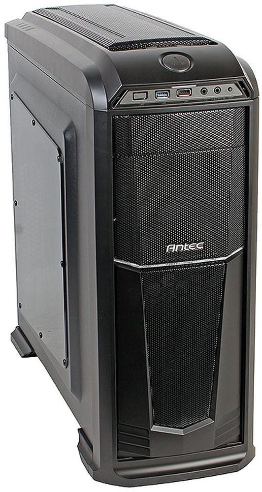 Antec GX330 Window Back High компьютерный корпус0-761345-01140-2Antec GX330 Window - стильный компьютерный корпус для сборки производительных игровых систем.Корпус способен вместить материнские платы до типоразмера ATX, производительные видеокарты длиной до 400 мм, и процессорные системы охлаждения высотой до 158 мм. В данной модели имеются крепления для двух 3.5-дюймовых и четырёх 2.5-дюймовых накопителей. Число слотов расширения равно семи.Корпус располагает местами для установки семи вентиляторов (в комплекте два вентилятора с подсветкой). Поддерживается и установка систем жидкостного охлаждения типоразмера 360 мм на передней панели.Данный корпус оснащен двумя портами USB на передней панели, а выше расположен контроллер скорости вращения вентиляторов.