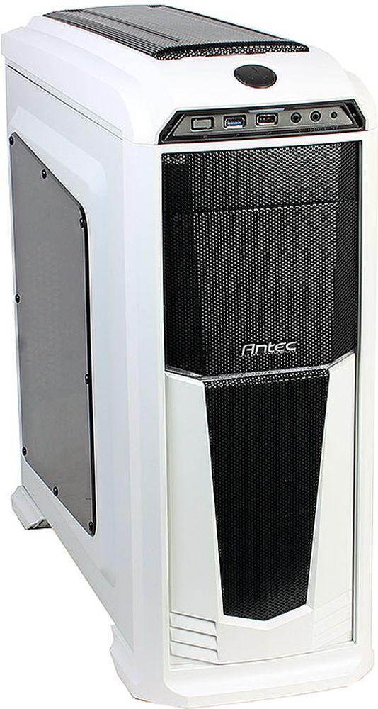 Antec GX330 Window White High компьютерный корпус0-761345-10011-3Antec GX330 Window - стильный компьютерный корпус для сборки производительных игровых систем.Корпус способен вместить материнские платы до типоразмера ATX, производительные видеокарты длиной до 400 мм, и процессорные системы охлаждения высотой до 158 мм. В данной модели имеются крепления для двух 3.5-дюймовых и четырёх 2.5-дюймовых накопителей. Число слотов расширения равно семи.Корпус располагает местами для установки семи вентиляторов (в комплекте два вентилятора с подсветкой). Поддерживается и установка систем жидкостного охлаждения типоразмера 360 мм на передней панели.Данный корпус оснащен двумя портами USB на передней панели, а выше расположен контроллер скорости вращения вентиляторов.