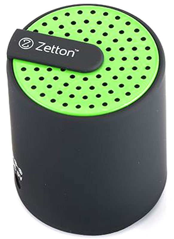 Zetton Cylinder, Black Green портативная Bluetooth-колонка (ZTLSBSCYLBG)