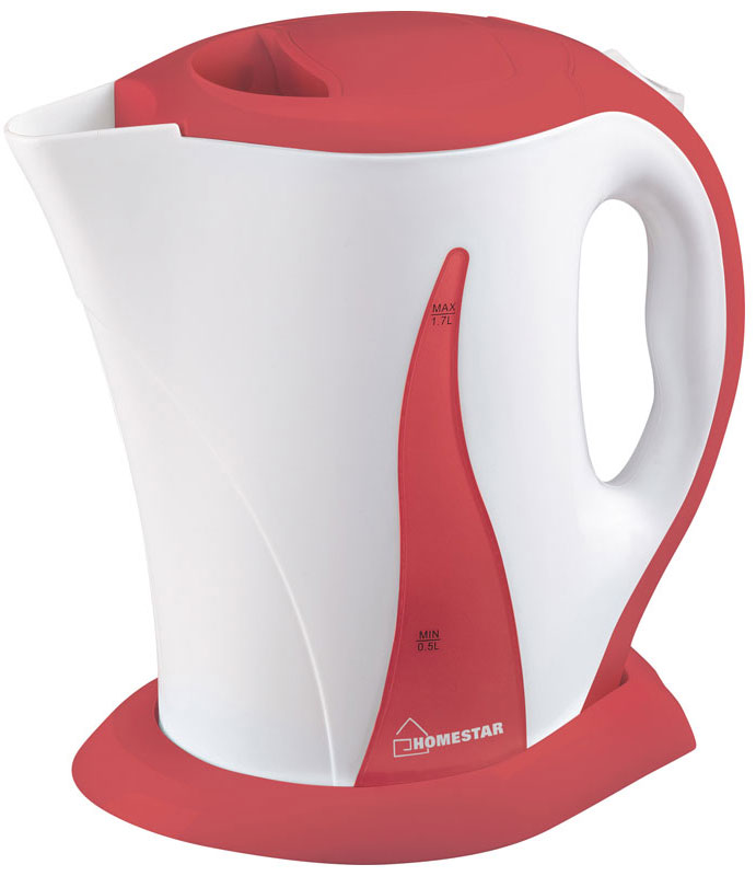 HomeStar HS-1003, White Coral электрический чайник54 002679Электрический чайник HomeStar HS-1003 прост в управлении и долговечен в использовании. Изготовлен из высококачественных материалов. Прозрачное окошко позволяет определить уровень воды. Мощность 2200 Вт вскипятит 1,7 литра воды в считанные минуты. Для обеспечения безопасности при повседневном использовании предусмотрены функция автовыключения, а также защита от включения при отсутствии воды.