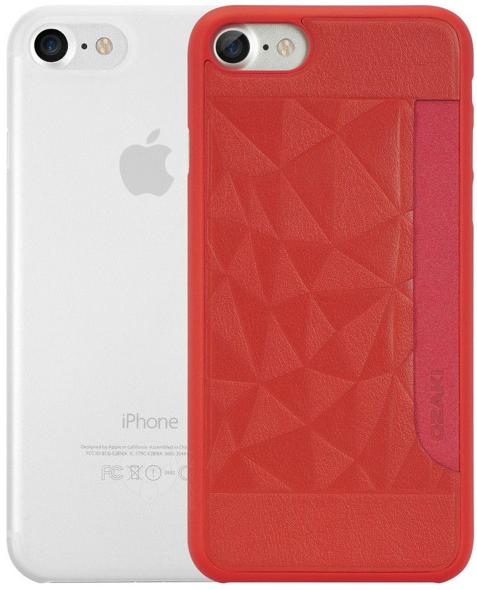 Ozaki O!coat Jelly+Pocket набор чехлов для iPhone 7, Red ClearOC722RC