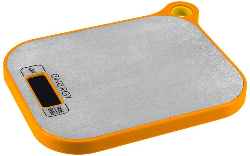 Energy EN-411, Orange кухонные весы54 11629Кухонные электронные весы Energy EN-411 - незаменимый помощник современной хозяйки. Они помогут точно взвесить любые продукты и ингредиенты. Кроме того, позволят людям, соблюдающим диету, контролировать количество съедаемой пищи и размеры порций. Предназначены для взвешивания продуктов с точностью измерения 1 грамм.