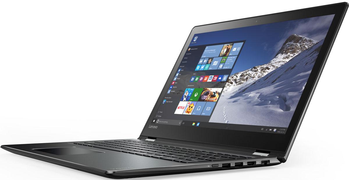 Lenovo Yoga 510-15IKB, Black (80VC000GRK)80VC000GRK15-дюймовый ноутбук Lenovo Yoga 510, оснащенный уникальными упорами для рук с алмазной гравировкой, создан для тех, кто любит выделяться из толпы. Он тоньше и легче моделей предыдущих поколений, к тому же объем его накопителя вдвое больше. А это значит, что ты можешь забыть о внешних жестких дисках. Аккумулятор заряжается на 40 % быстрее, чем у обычных ноутбуков. В зависимости от конкретных задач экран ноутбук Yoga 510 можно переворачивать, складывать и наклонять.В зависимости от задач этот ноутбук легко превращается в планшет. 15-дюймовый Lenovo Yoga 510 — это невероятно адаптивный компьютер. Используйте один из четырех режимов в зависимости от того, что вы делаете: ноутбук, консоль, презентация или планшет. Секрет прост: благодаря уникальному шарнирному механизму сенсорный экран Yoga 510 можно поворачивать на 360 градусов, выбирая оптимальный для конкретных задач режим работы.С ноутбуком Yoga 510 вы больше не привязаны к розетке. Устройство способно работать до 8,5 часов без подзарядки. Если аккумулятор разрядился, не стоит беспокоиться: технология быстрой подзарядки позволяет полностью зарядить его всего за 2,5 часа. Это почти на 40 % быстрее, чем у обычных ноутбуков.Большинство ноутбуков-трансформеров оснащаются накопителем емкостью 512 ГБ. Жесткий диск Yoga 510 предоставляет вдвое больший объем — 1 ТБ. Теперь можно не беспокоиться о дополнительном пространстве и забыть о внешних дисках.Обновленная версия уже знакомой тебе Windows. Меню Пуск вернулось и стало лучше, чем прежде. Его можно расширять и настраивать под свои задачи. К ноутбуку можно подключать различные устройства: принтеры, камеры и USB- накопители. Дополнительные функции безопасности защитят устройство от кражи и вредоносного ПО.Высокопроизводительный, многофункциональный процессорIntel Core i3-7100U со встроенной системой безопасности открывает качественно новые возможности для работы, творчества и 3D-игр. Разбуди свою фантазию и раздвигай границы