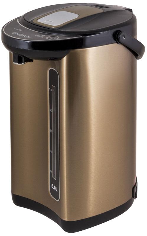 Energy TP-617, Gold термопот54 280303Термопот Energy TP-617 поможет не только вскипятить или подогреть воду, но и сохранить ее температуру на заданном уровне в течение нескольких часов. Благодаря этому вы избавите себя от частого подогрева воды, что, в свою очередь, обеспечит вполне реальную экономию электроэнергии. Данная модель разработана специально для тех, кому постоянно необходимо иметь в доме запас горячей воды.Мощность в режиме поддержания температуры: 35 ВтСпособ подачи воды: автоматический (нажатием кружкой, нажатием кнопки)Быстрое кипячение водыНержавеющая стальная колбаСъемный шнур питанияСкрытый нагревательный элемент