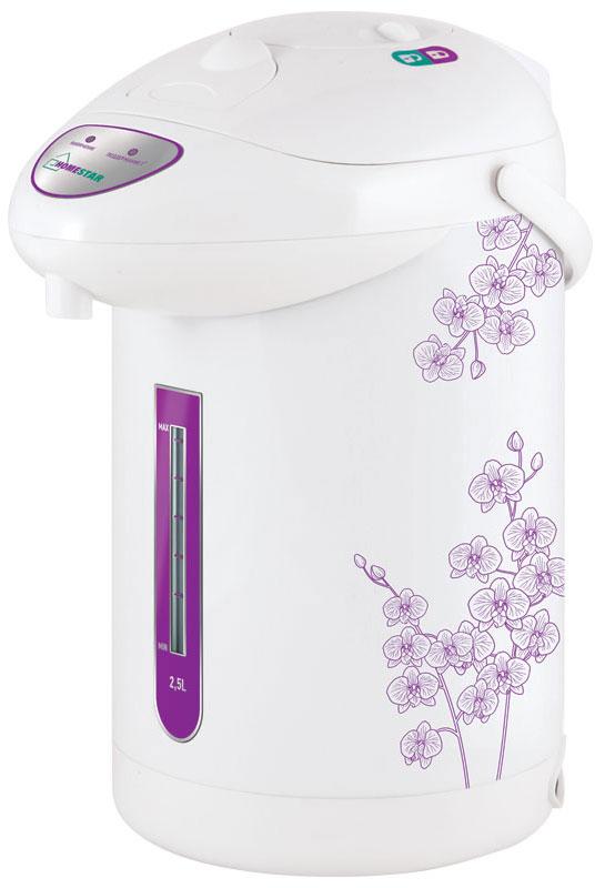 HomeStar HS-5001, White Purple термопот