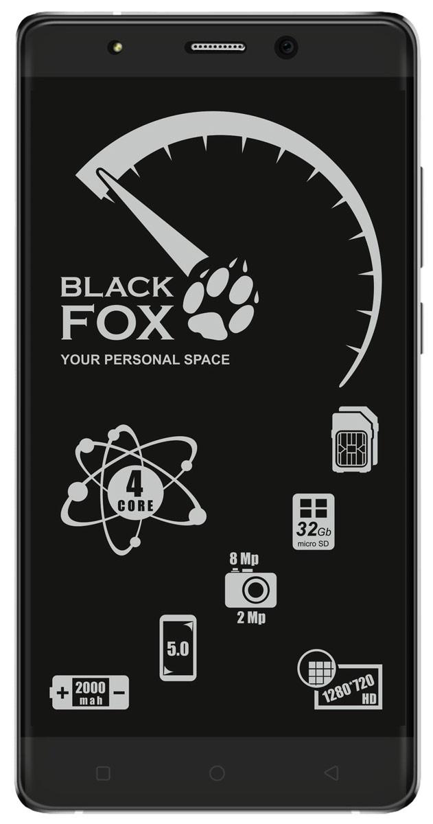 Black Fox BMM 532S, Silver4627102591043Смартфон Black Fox BMM 532S имеет сенсорный IPS-экран с диагональю 5 дюймов, что обеспечивает комфорт при серфинге в интернете, просмотре видео и играх. Данная модель оснащена мощным 4-ядерным процессором и оперативной памятью 1 ГБ, что обеспечивает быстродействие устройства даже в режиме многозадачности. Black Fox BMM 532S поддерживает 2 SIM-карты, поэтому смартфон можно использовать в качестве личного и рабочего одновременно.Тыловая камера 8 Мпикс позволяет делать качественные фото и снимать видео, а фронтальная камера 2 Мпикс обеспечивает видеосвязь и яркие селфи.Смартфон поддерживает карты памяти объемом до 32 ГБ, что позволяет хранить всю необходимую информацию, включая фото, видео и музыку. Поддержка интернета 3G позволяет оставаться на связи даже там, где нет Wi-Fi.Телефон сертифицирован EAC и имеет русифицированный интерфейс меню и Руководство пользователя.