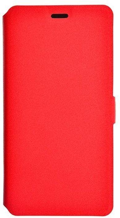Prime Book чехол для ASUS Zenfone 3 Delux (Zs550Kl), Red2000000132235Чехол надежно защищает ваш смартфон от внешних воздействий, грязи, пыли, брызг. Он также поможет при ударах и падениях, не позволив образоваться на корпусе царапинам и потертостям. Чехол обеспечивает свободный доступ ко всем функциональным кнопкам смартфона и камере.