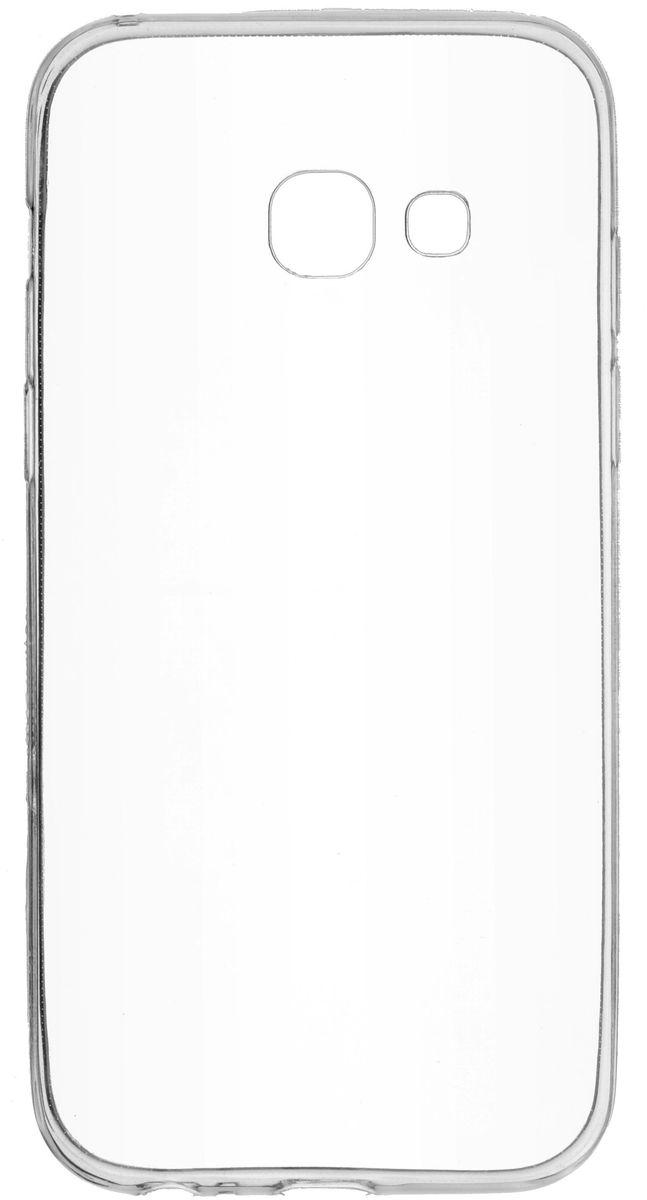 Skinbox Slim Silicone чехол для Samsung Galaxy A3 (2017), Transparent2000000126470Чехол-накладка Skinbox Slim Silicone для Samsung Galaxy A3 (2017) обеспечивает надежную защиту корпуса смартфона от механических повреждений и надолго сохраняет его привлекательный внешний вид. Накладка выполнена из высококачественного силикона, плотно прилегает и не скользит в руках. Чехол также обеспечивает свободный доступ ко всем разъемам и клавишам устройства.