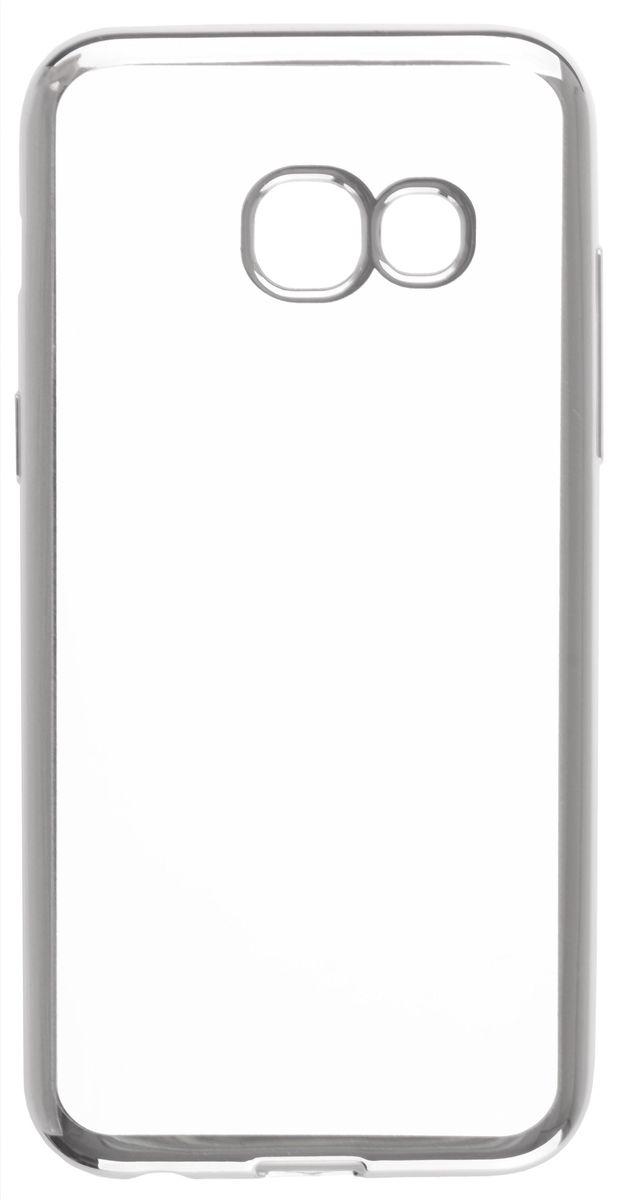 Skinbox 4People Silicone Chrome Border чехол для Samsung Galaxy A3 (2017), Silver2000000125008Чехол-накладка Skinbox 4People Silicone Chrome Border для Samsung Galaxy A3 (2017) обеспечивает надежную защиту корпуса смартфона от механических повреждений и надолго сохраняет его привлекательный внешний вид. Накладка выполнена из высококачественного силикона, плотно прилегает и не скользит в руках. Чехол также обеспечивает свободный доступ ко всем разъемам и клавишам устройства.